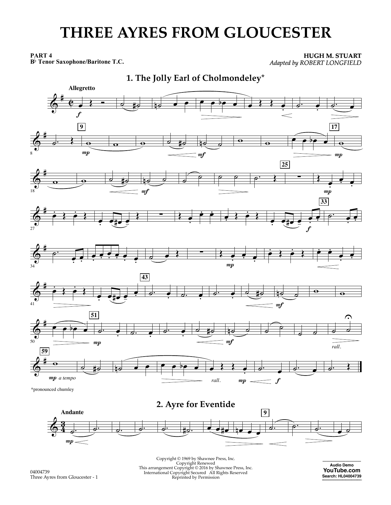 Three Ayres from Gloucester - Pt.4 - Bb Tenor Sax/Bar. T.C. (Flex-Band)