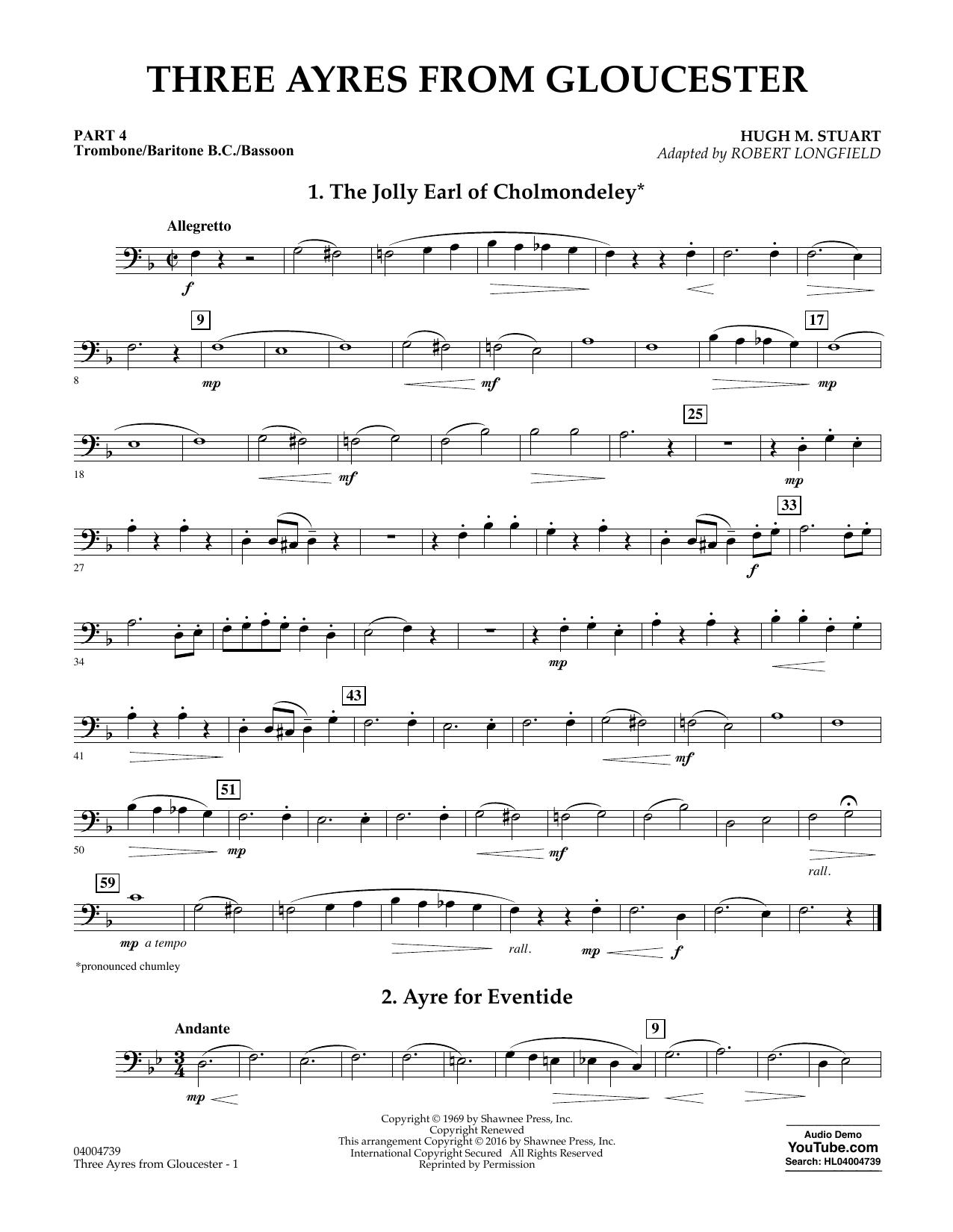 Three Ayres from Gloucester - Pt.4 - Trombone/Bar. B.C./Bsn. (Flex-Band)