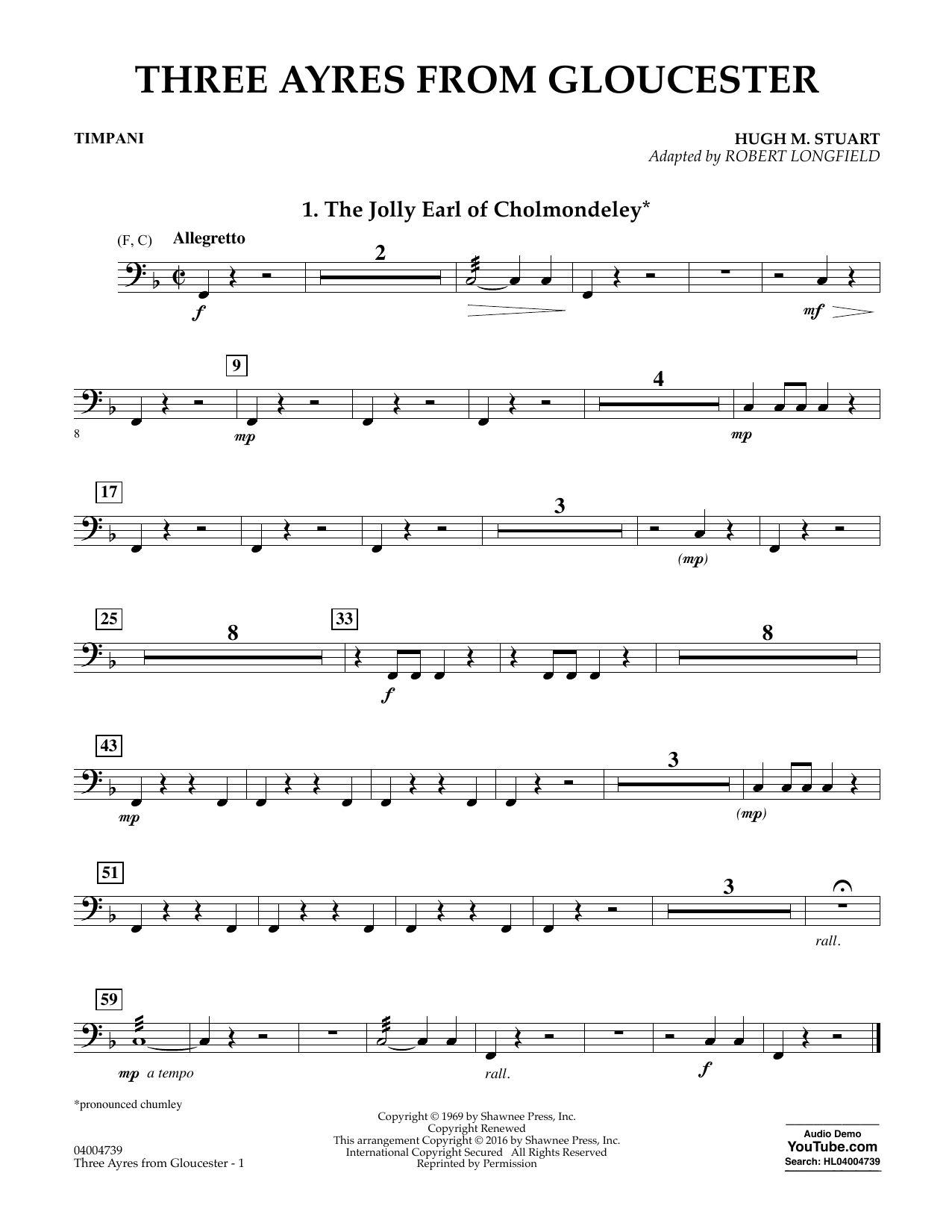 Three Ayres from Gloucester - Timpani (Concert Band: Flex-Band)
