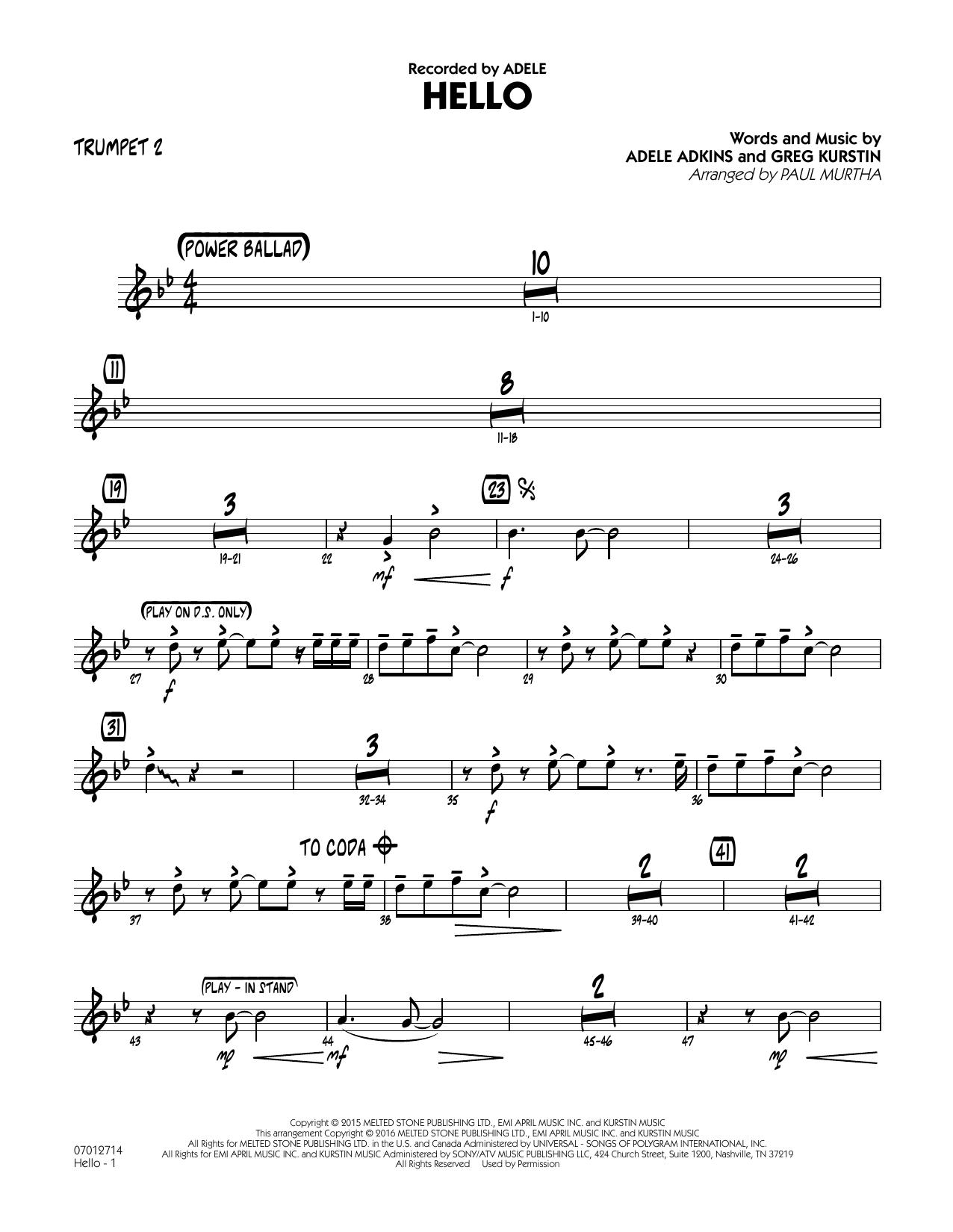 Hello - Trumpet 2 (Jazz Ensemble)