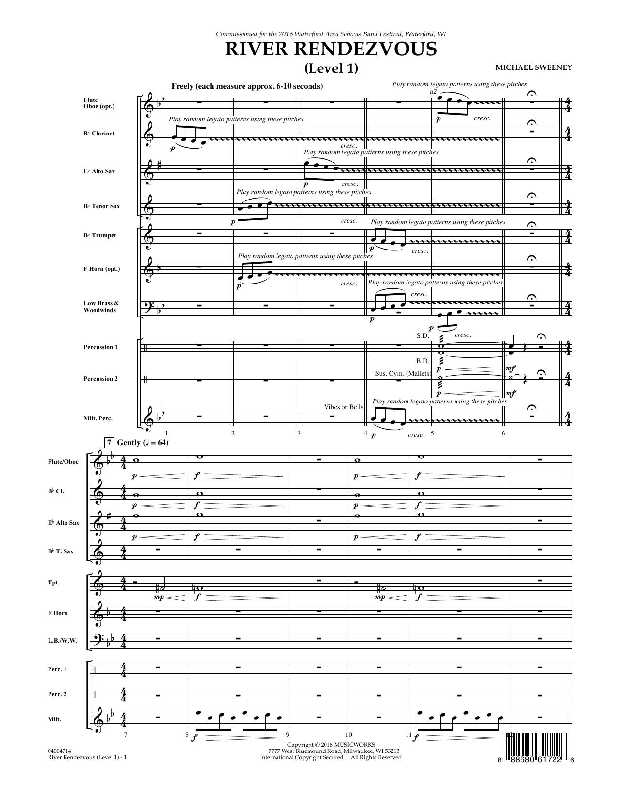 River Rendezvous - Full Score (Level 1) (Concert Band)