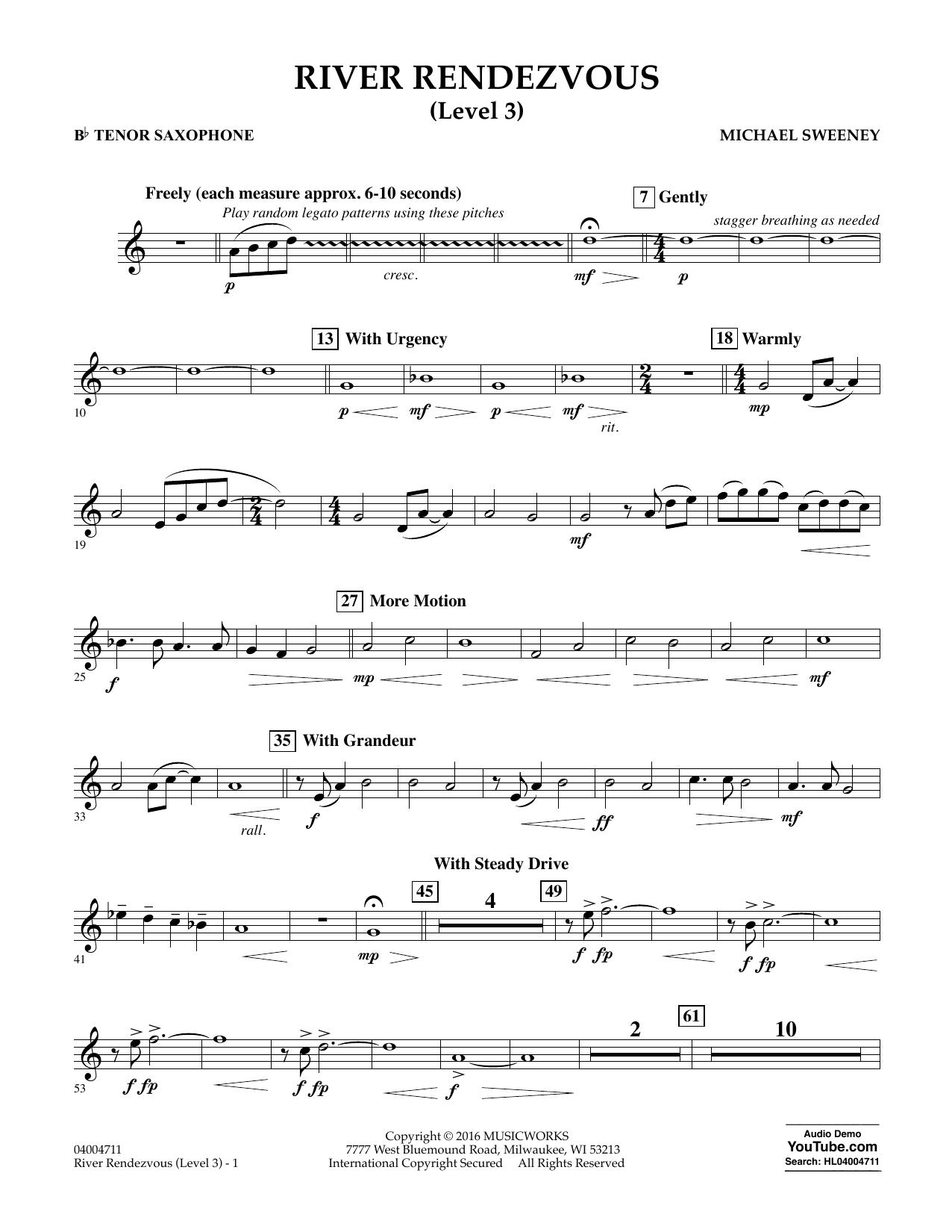 River Rendezvous - Bb Tenor Saxophone (Level 3) (Concert Band)