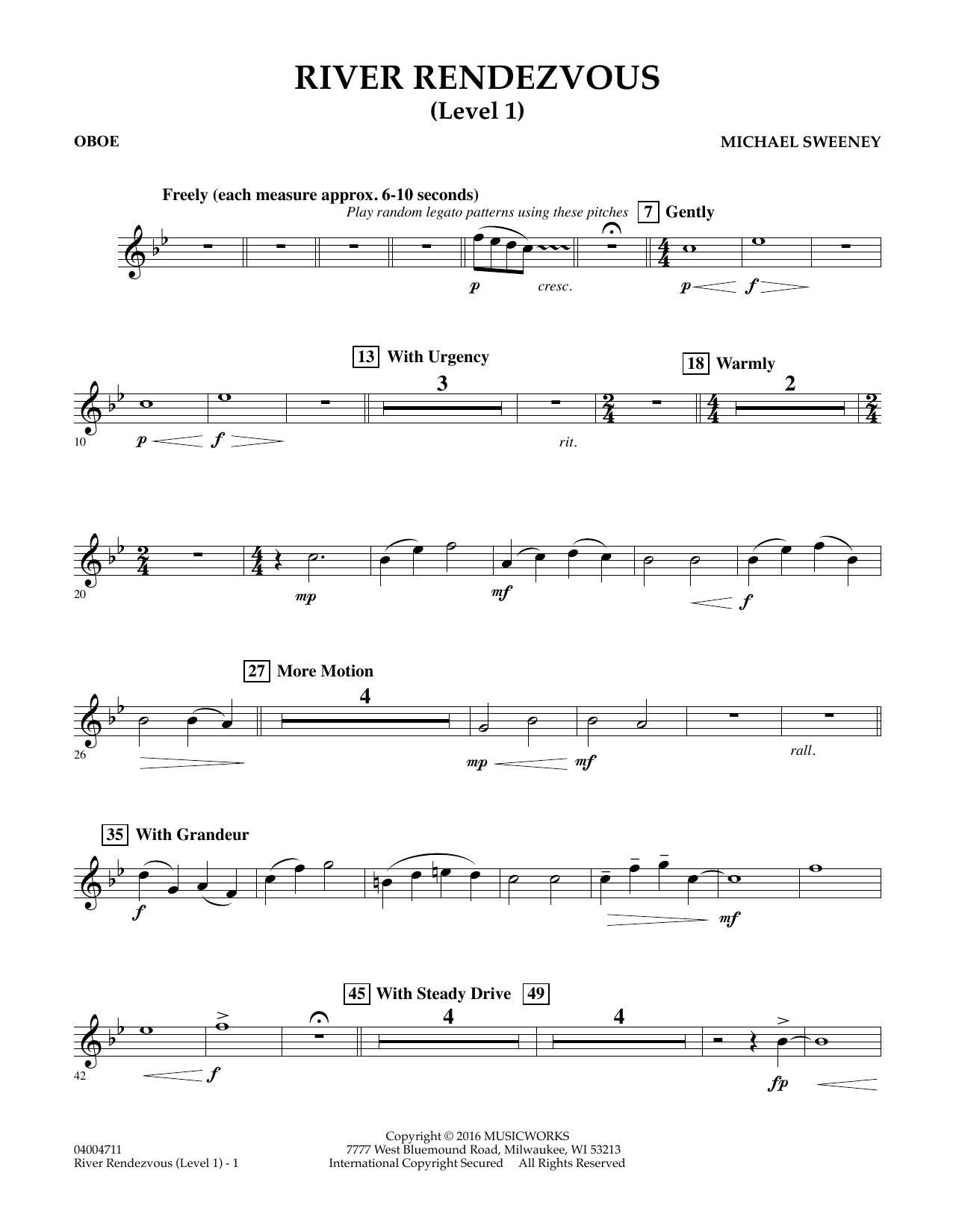 River Rendezvous - Oboe (Level 1) (Concert Band)