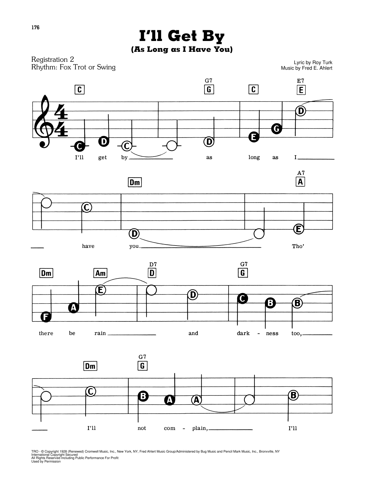 I'll Get By (As Long As I Have You) Sheet Music