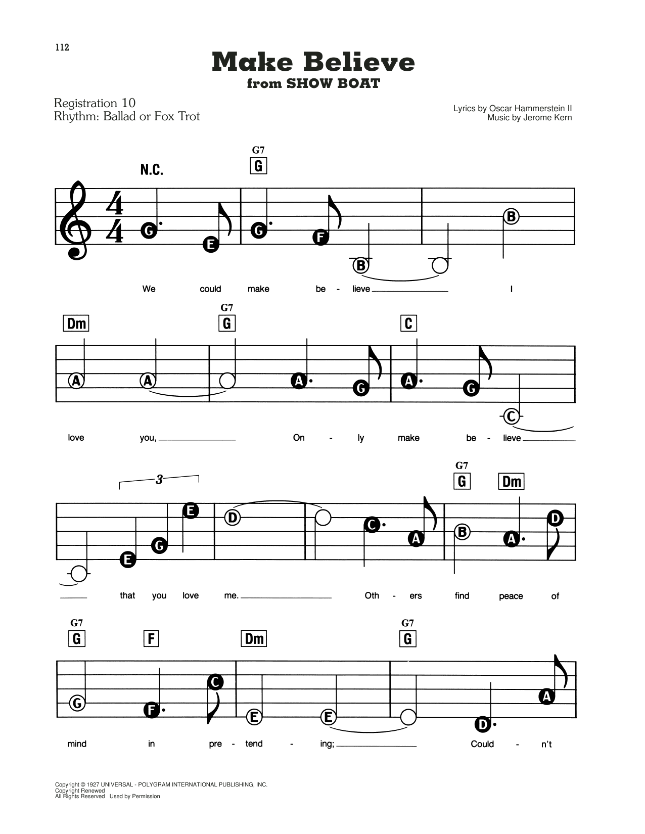 Make Believe (from Show Boat) Sheet Music