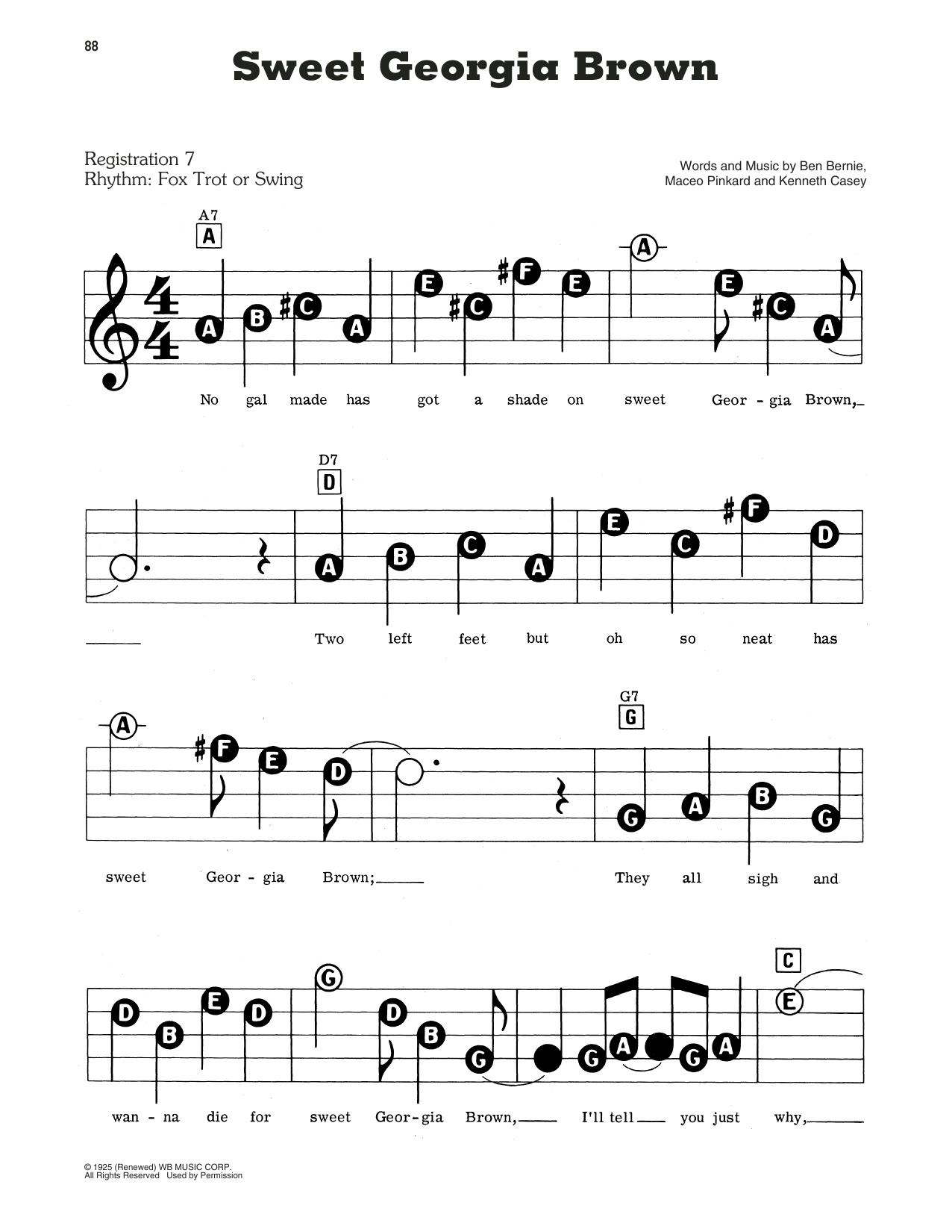 Sweet Georgia Brown Sheet Music