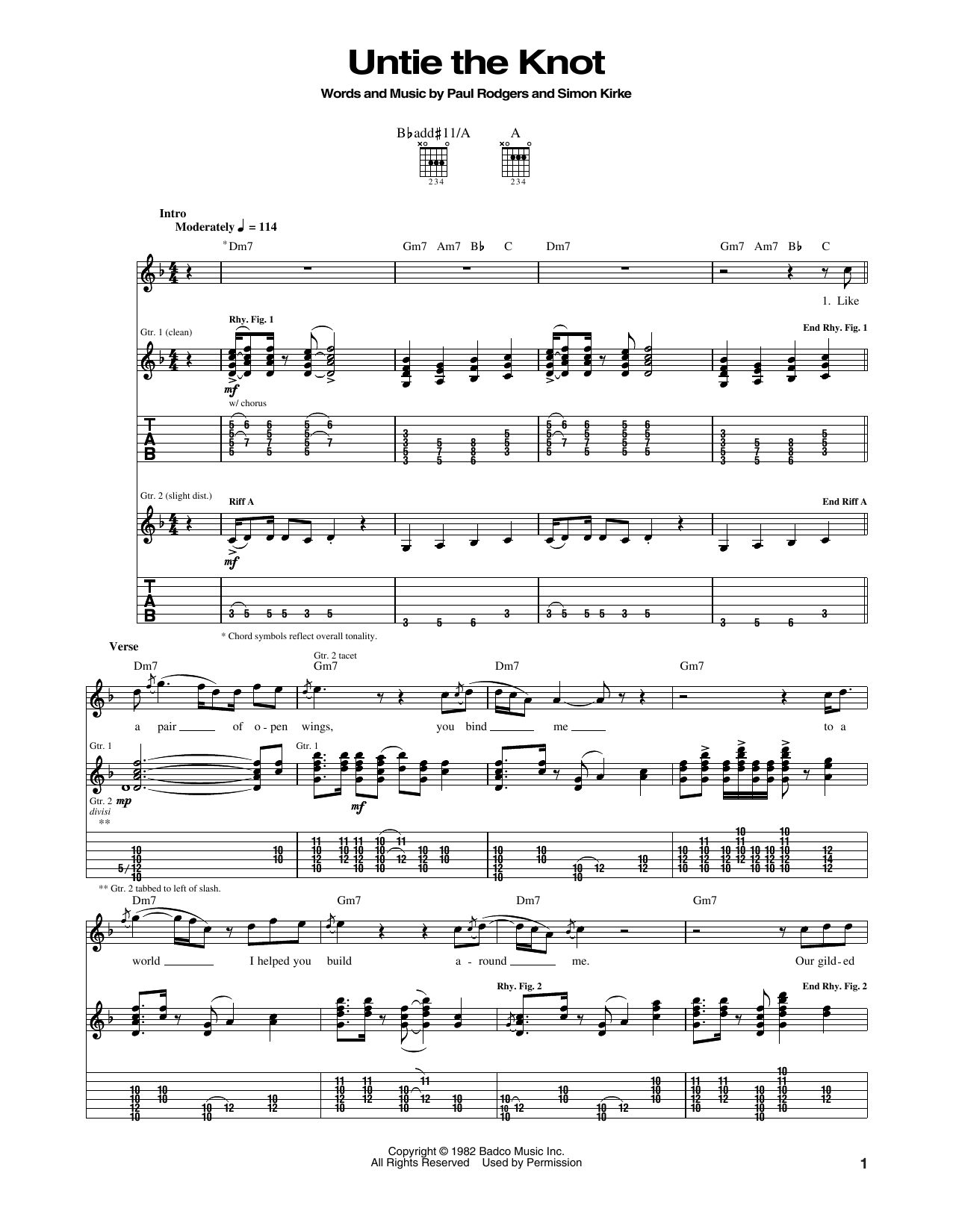 Untie The Knot Sheet Music