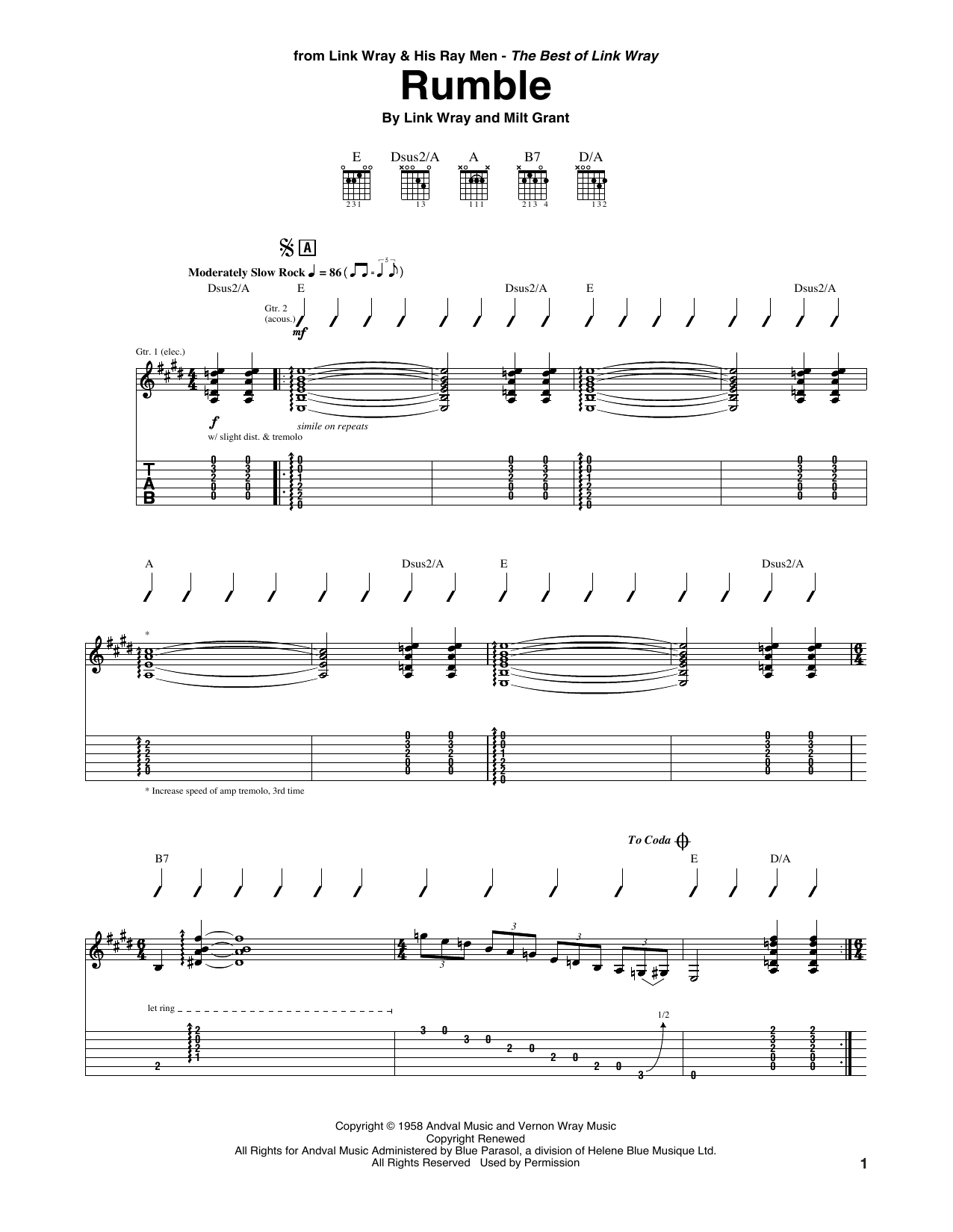 Rumble Sheet Music