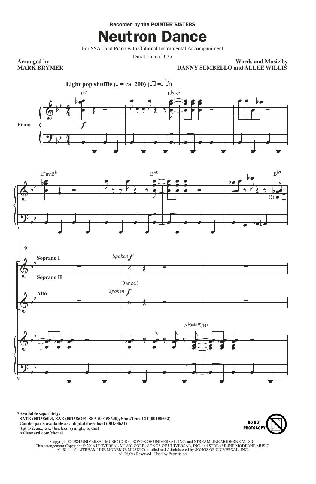 Neutron Dance Sheet Music