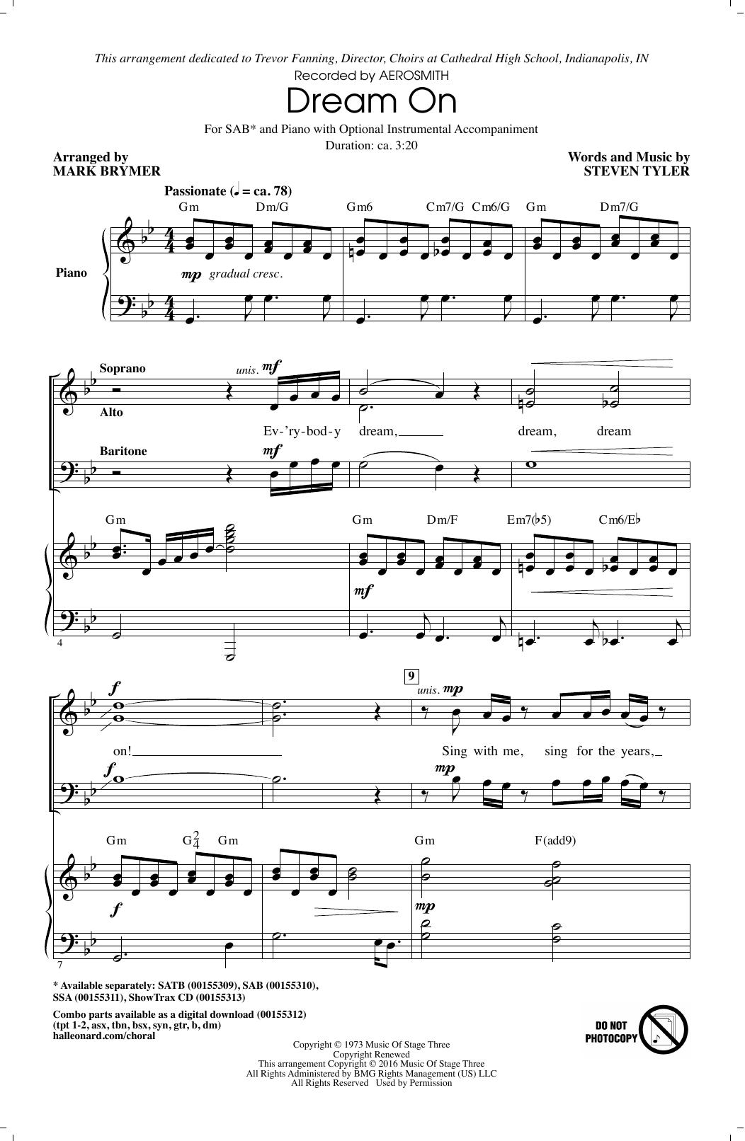 Dream On Sheet Music