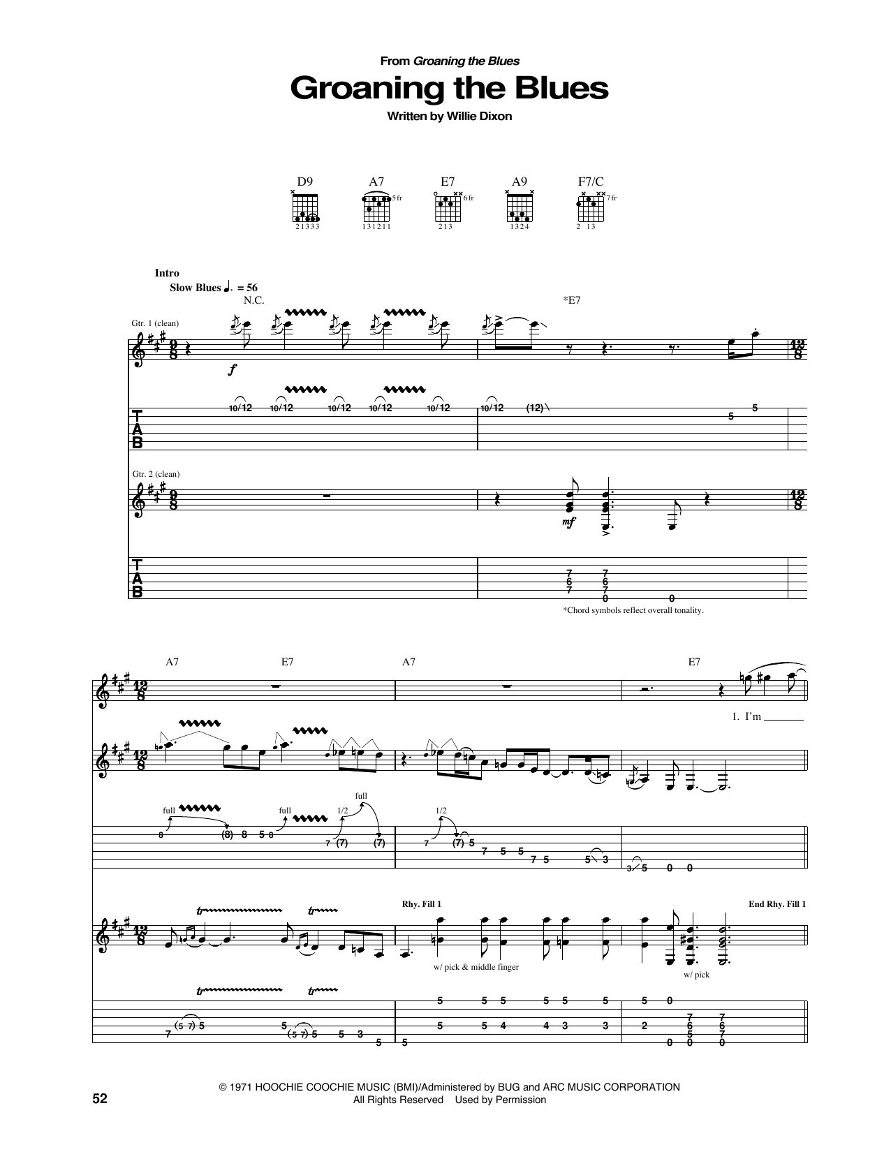 Groaning The Blues Sheet Music