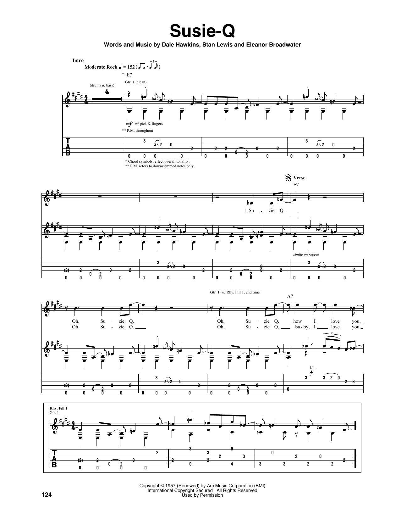 Susie-Q Sheet Music