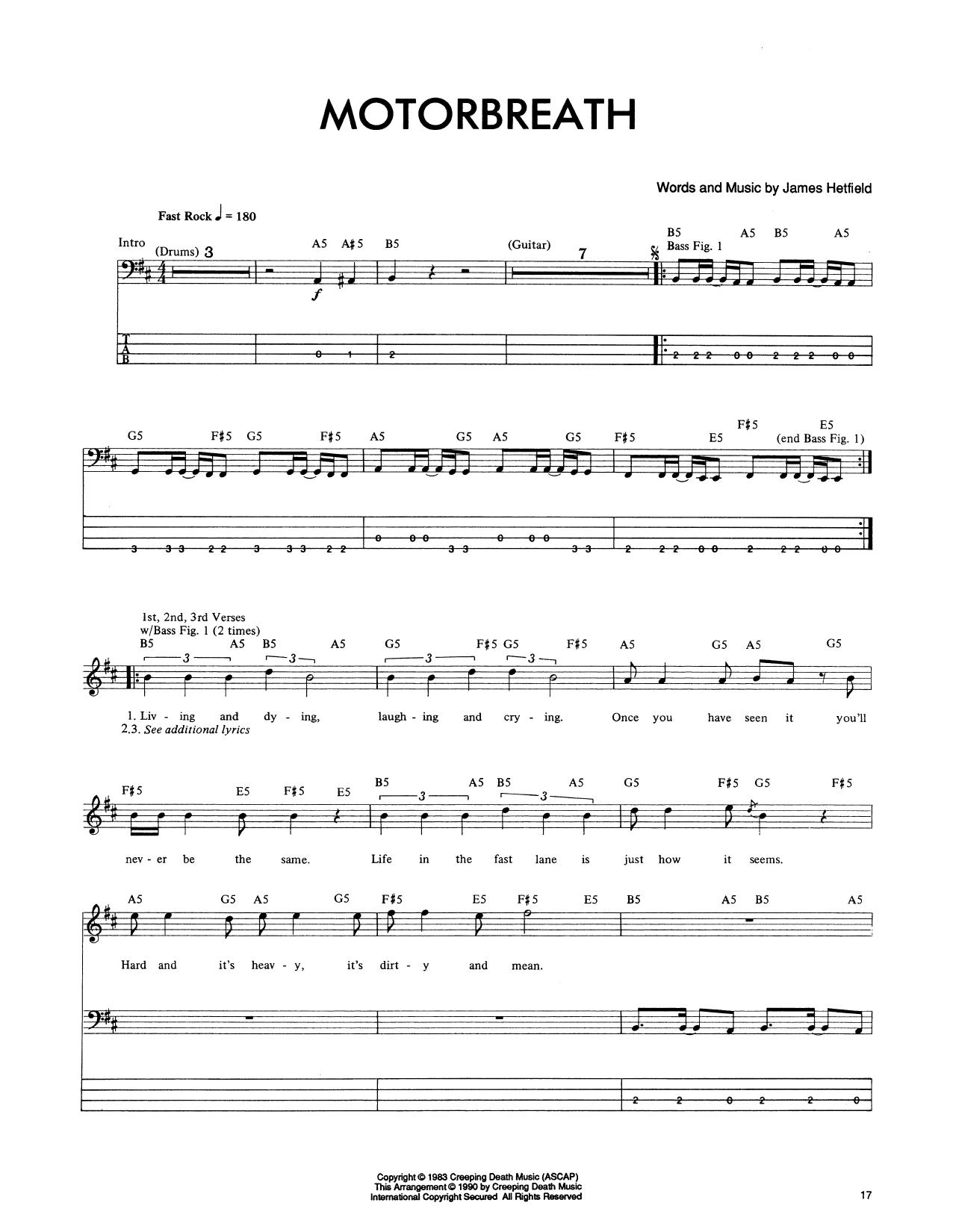 Motorbreath (Bass Guitar Tab)