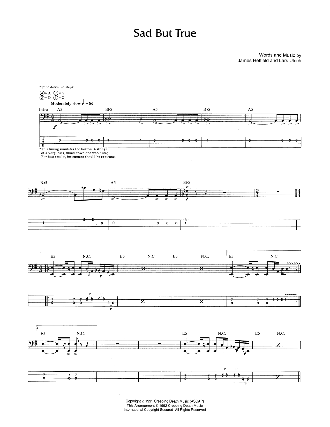 Sad but true bass guitar tab by metallica bass guitar tab 170675 metallica sad but true bass guitar tab hexwebz Image collections
