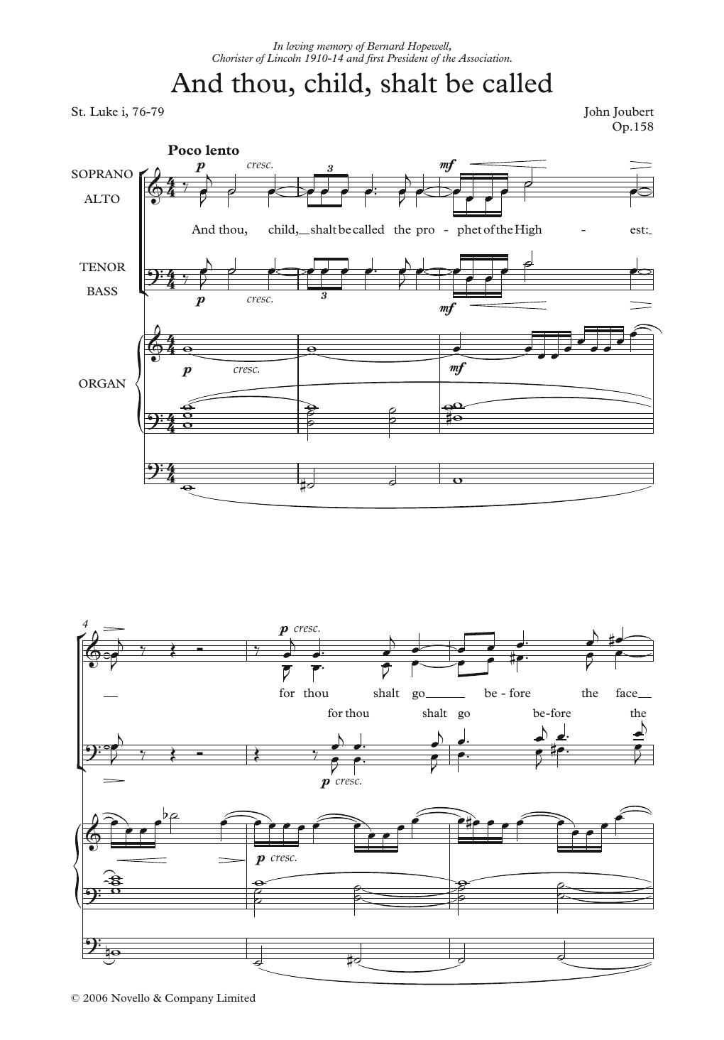 And Thou, Child, Shalt Be Called Sheet Music