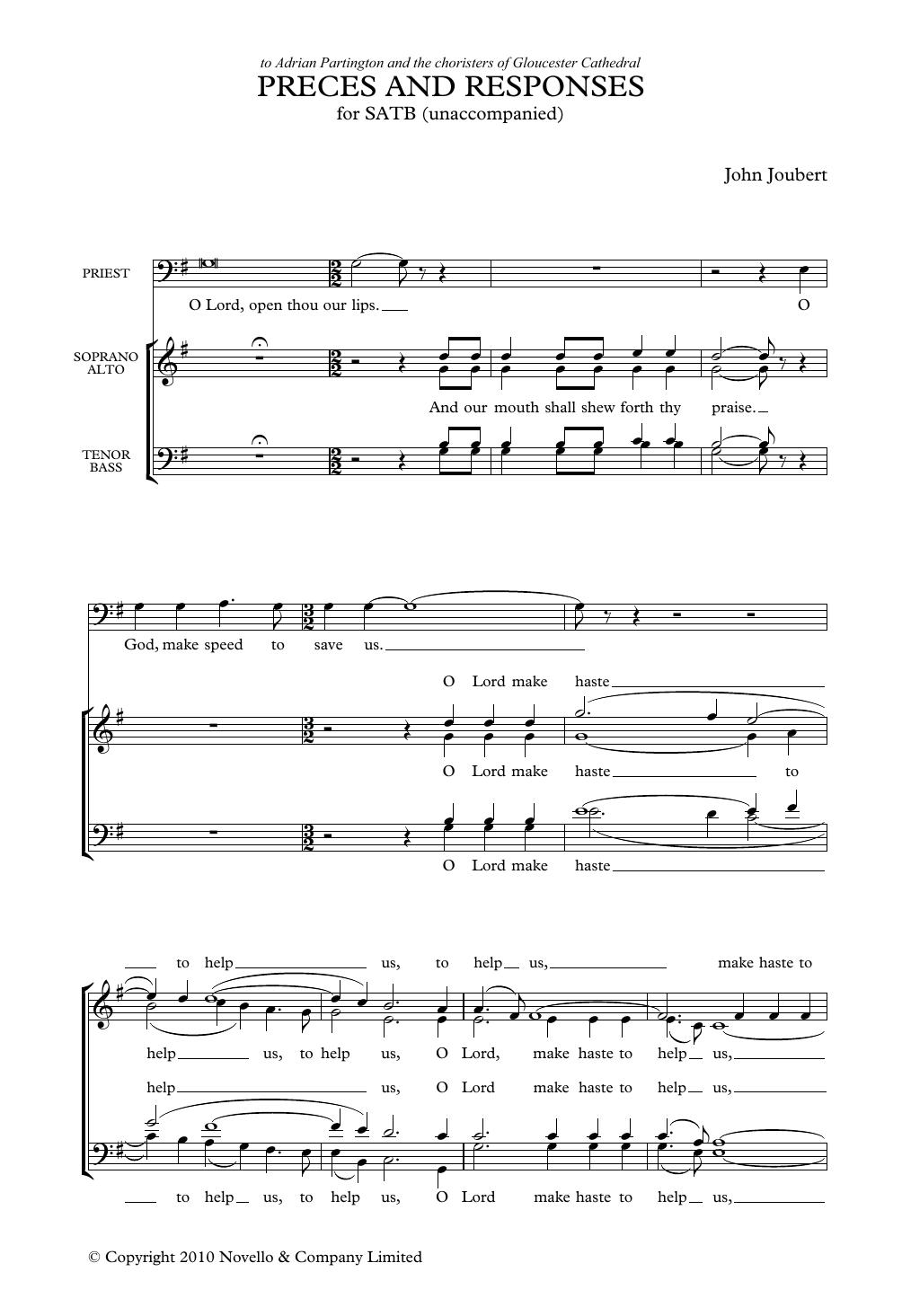 Preces & Responses Sheet Music