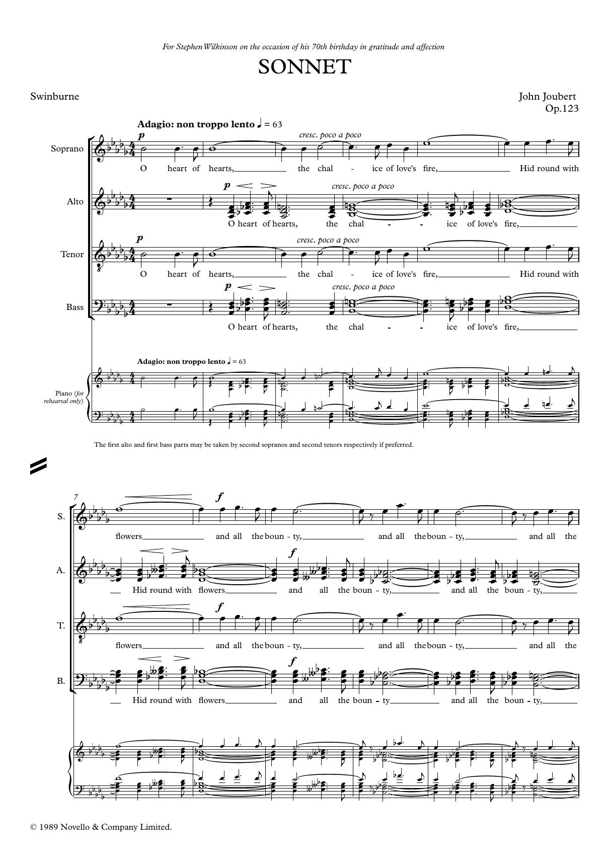 Sonnet Sheet Music