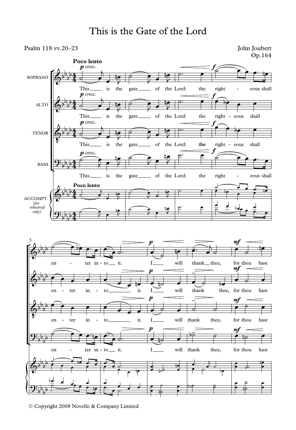 This Is The Gate Of The Lord Sheet Music