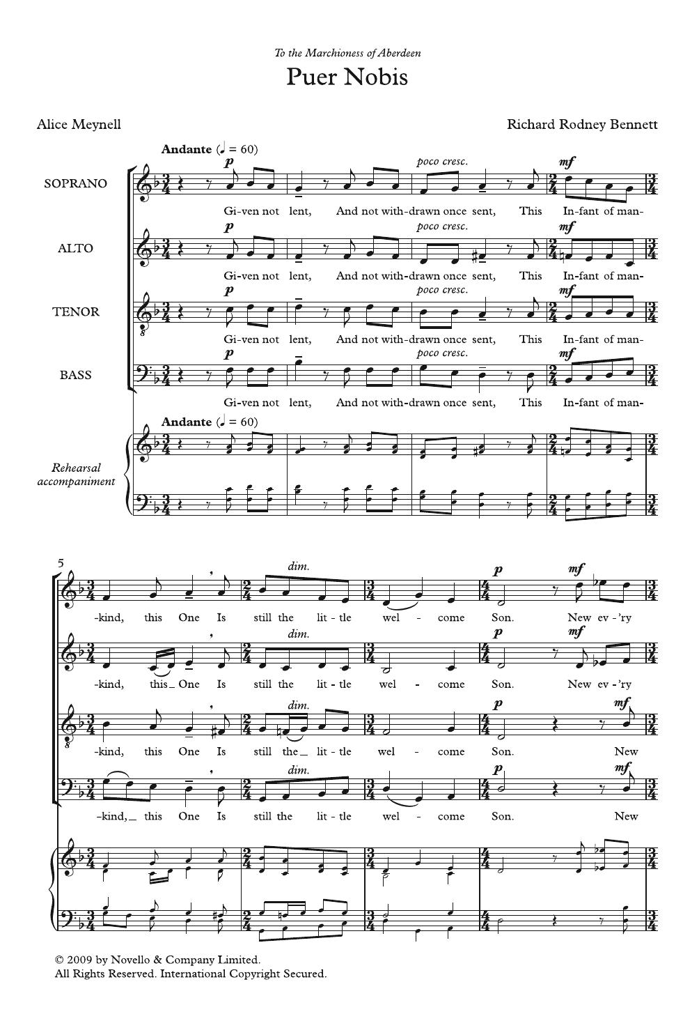 Puer Nobis Sheet Music