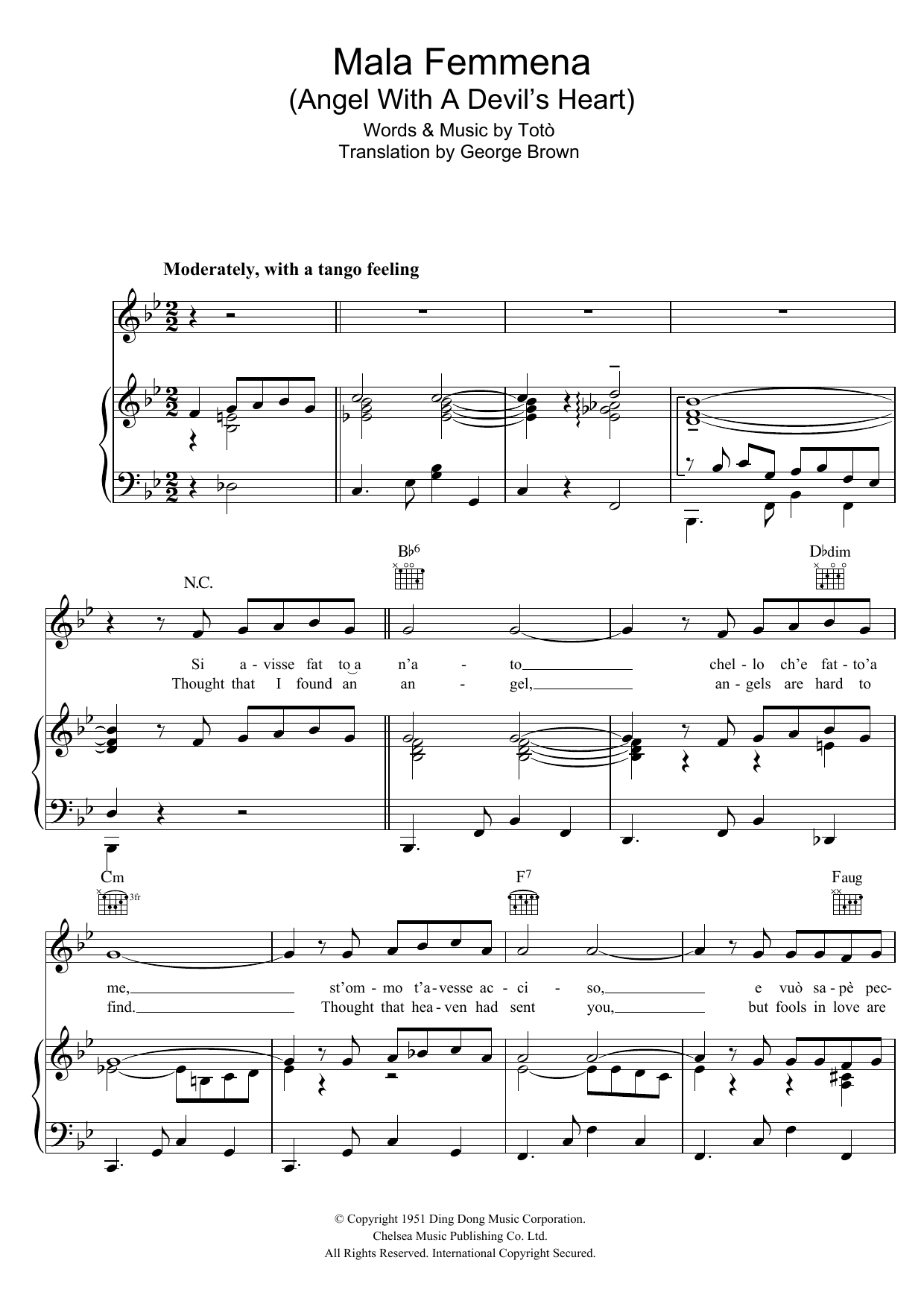 Mala Femmena Sheet Music