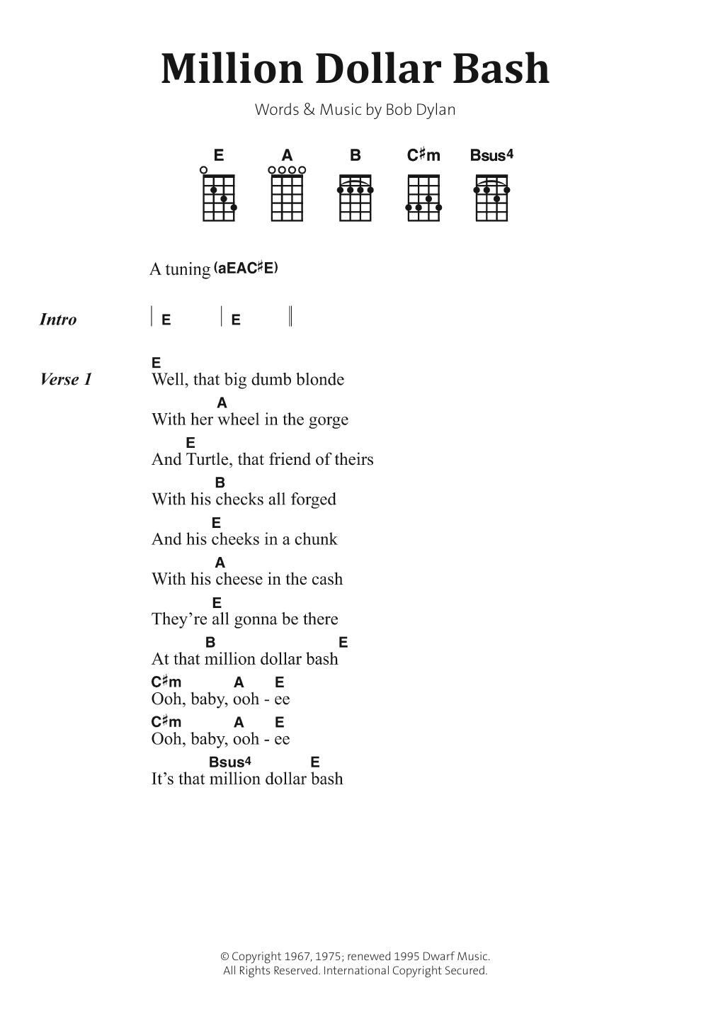 Million Dollar Bash Sheet Music