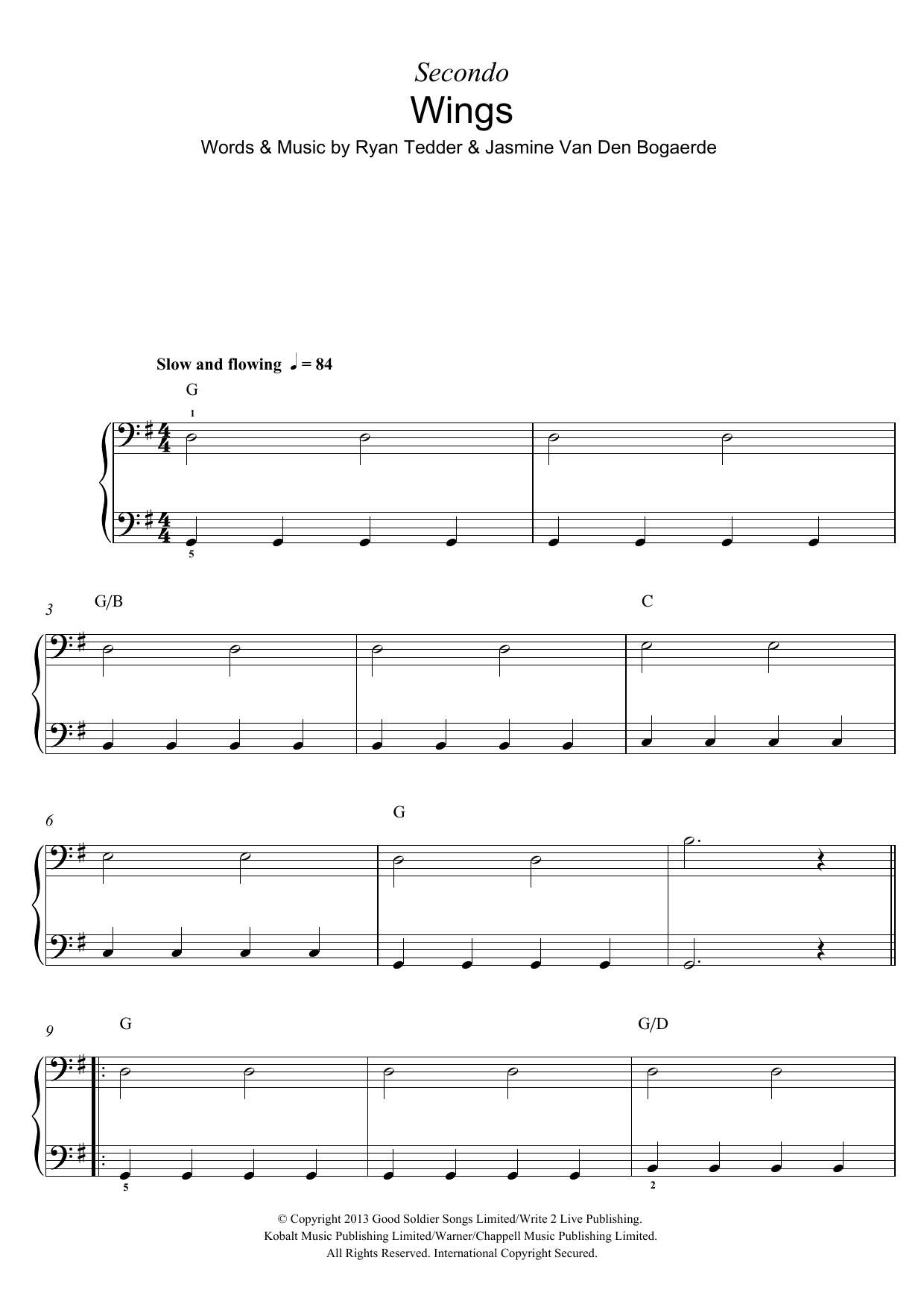 Wings Sheet Music