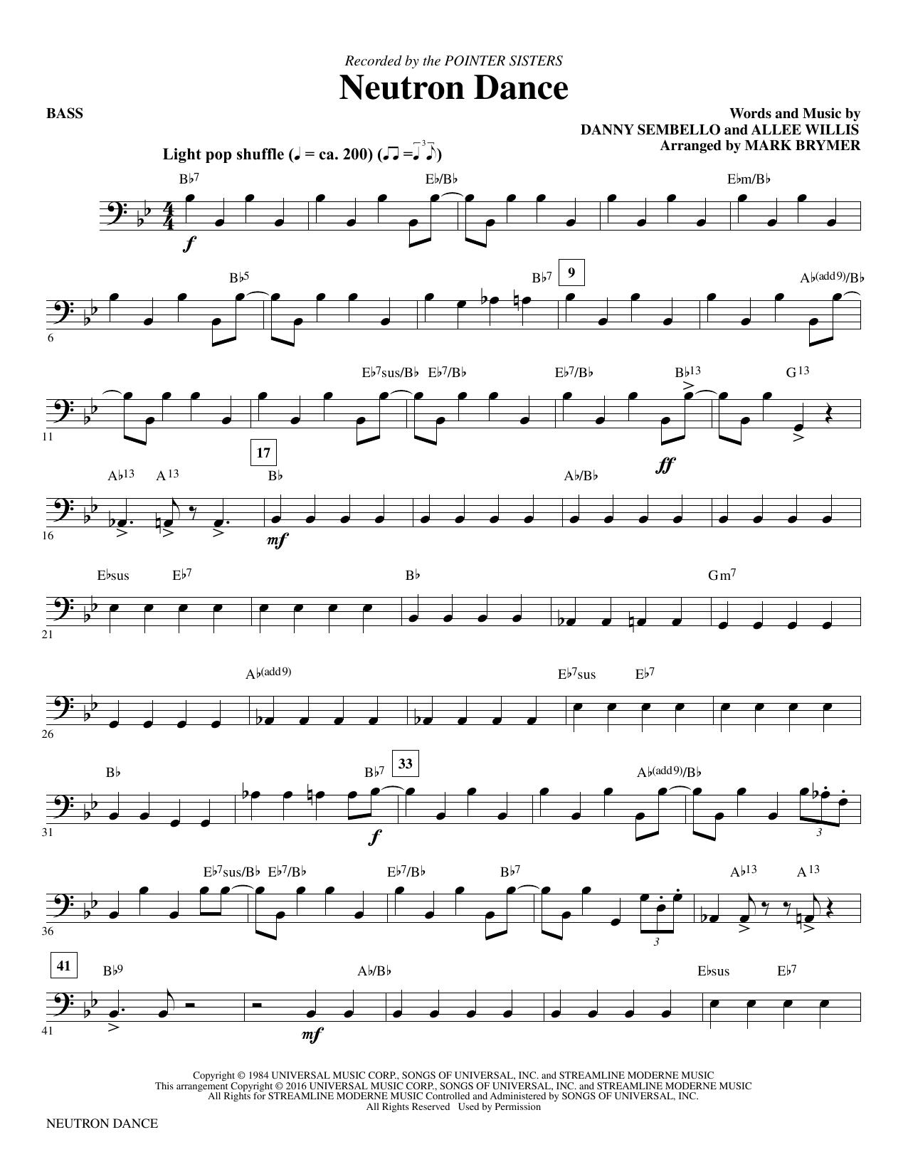 Neutron Dance - Bass Sheet Music