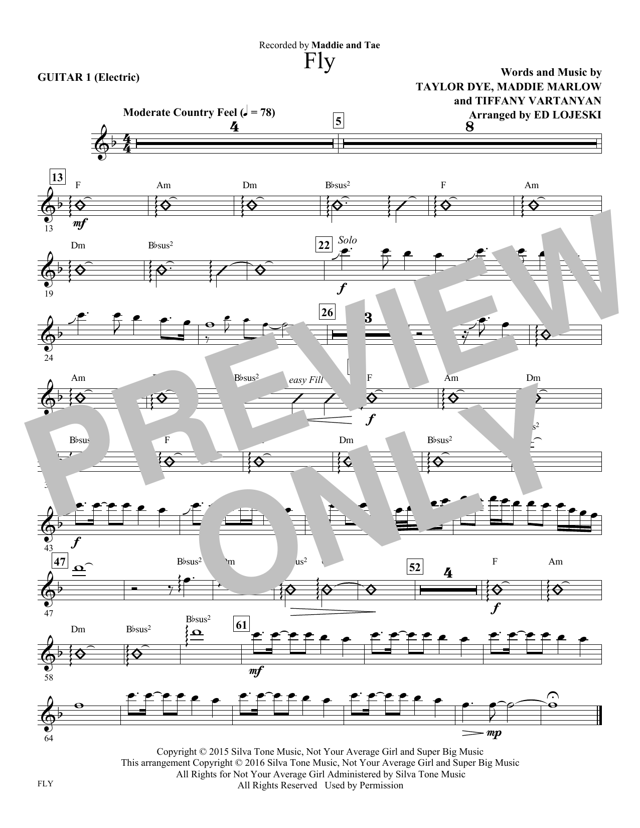 Fly - Guitar 1 (Choir Instrumental Pak)