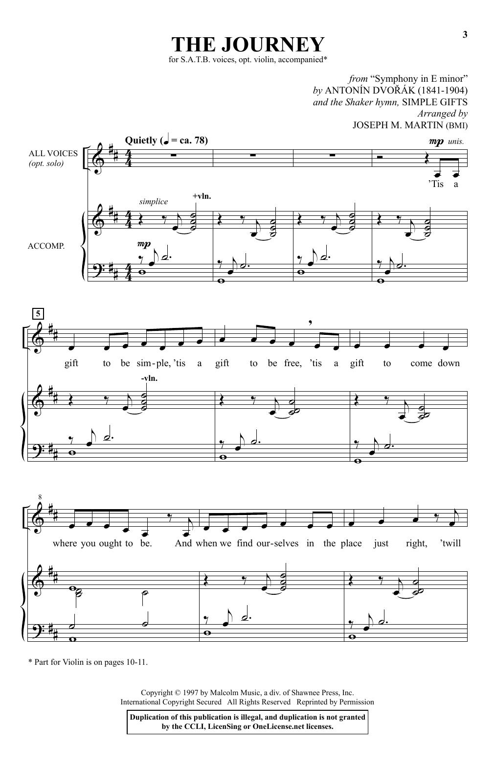 The Journey (SATB Choir)