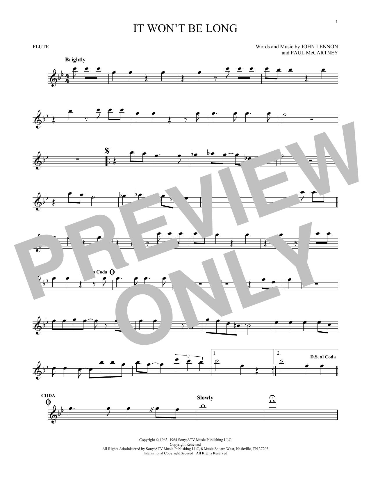 It Won't Be Long (Flute Solo)