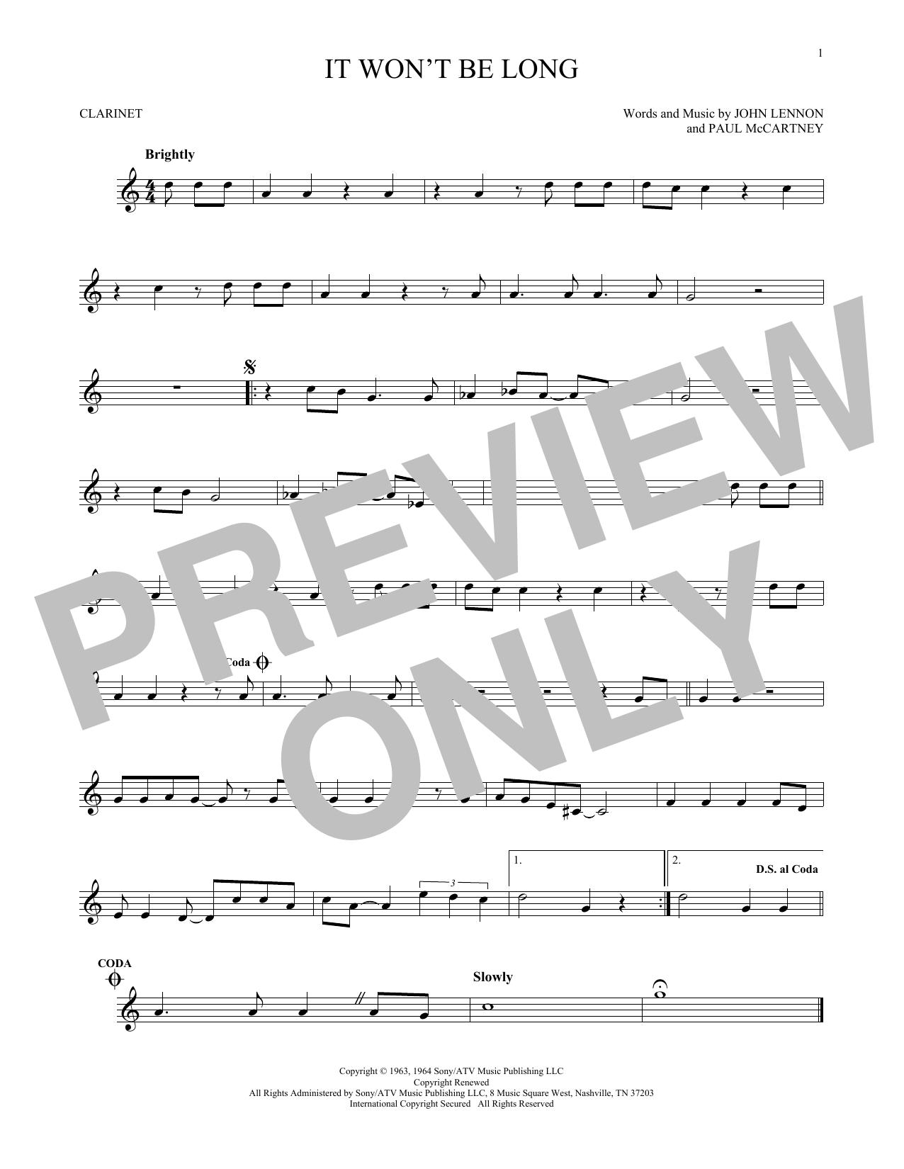 It Won't Be Long (Clarinet Solo)