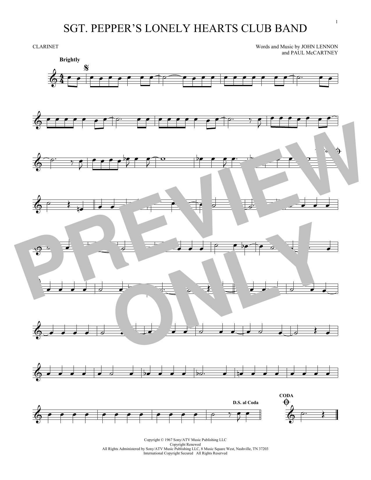 Sgt. Pepper's Lonely Hearts Club Band Sheet Music