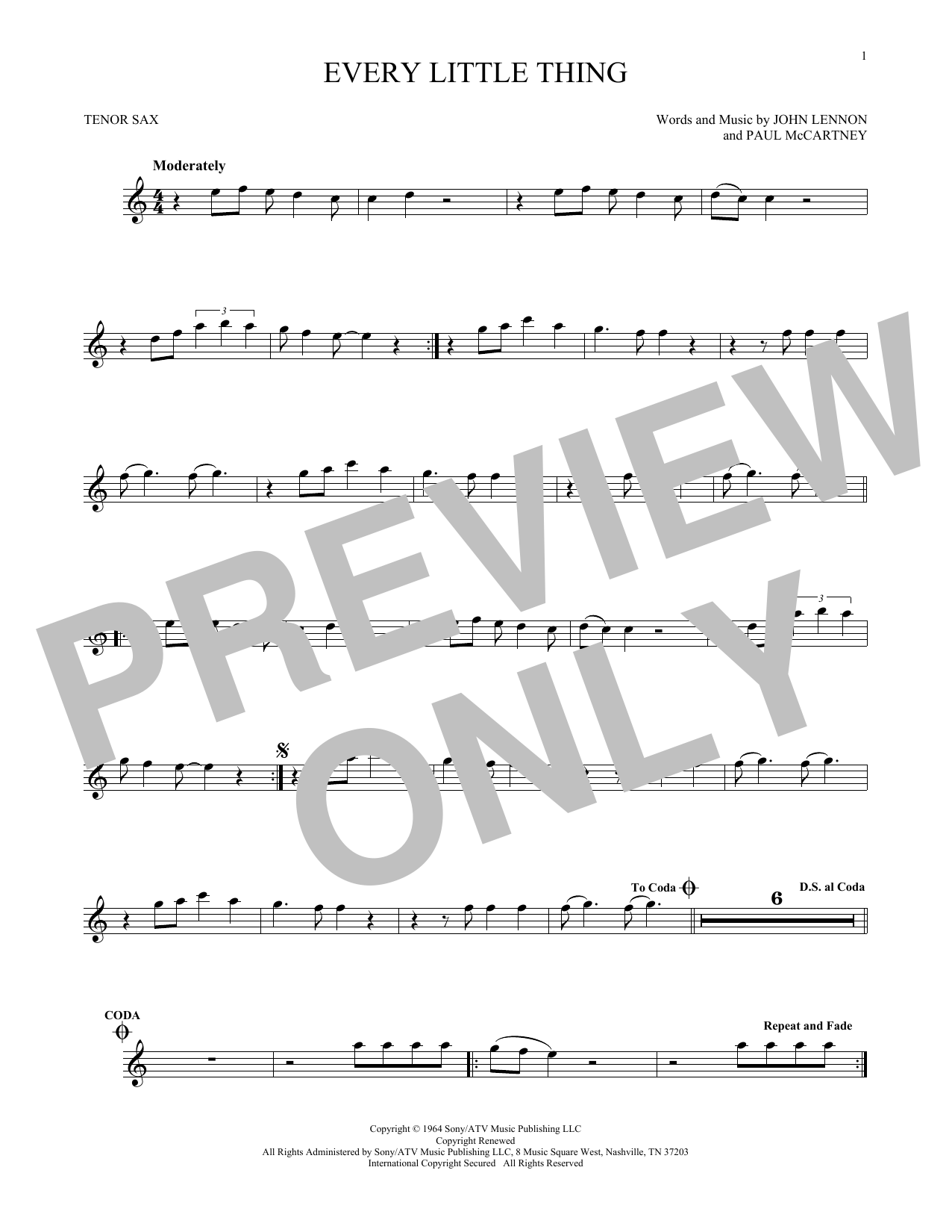 Every Little Thing (Tenor Sax Solo)