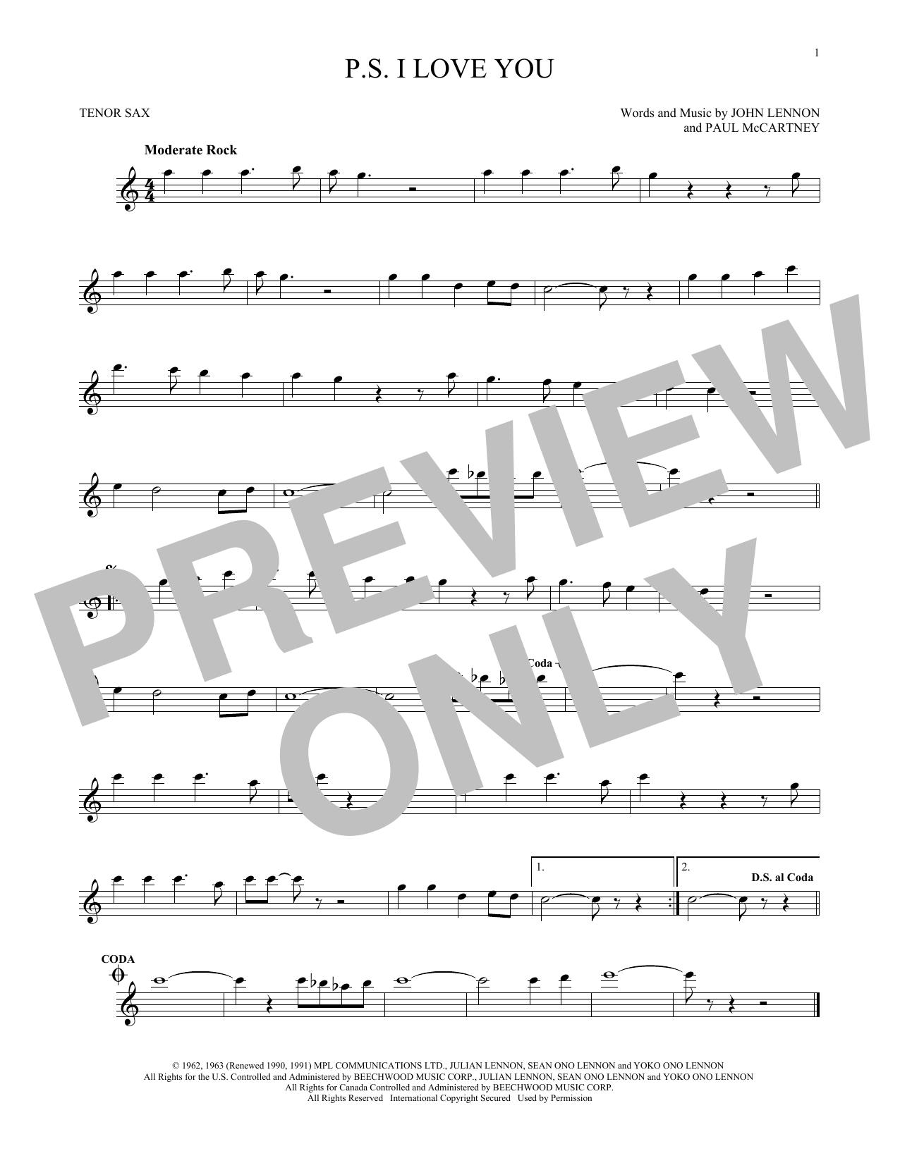 P.S. I Love You Sheet Music