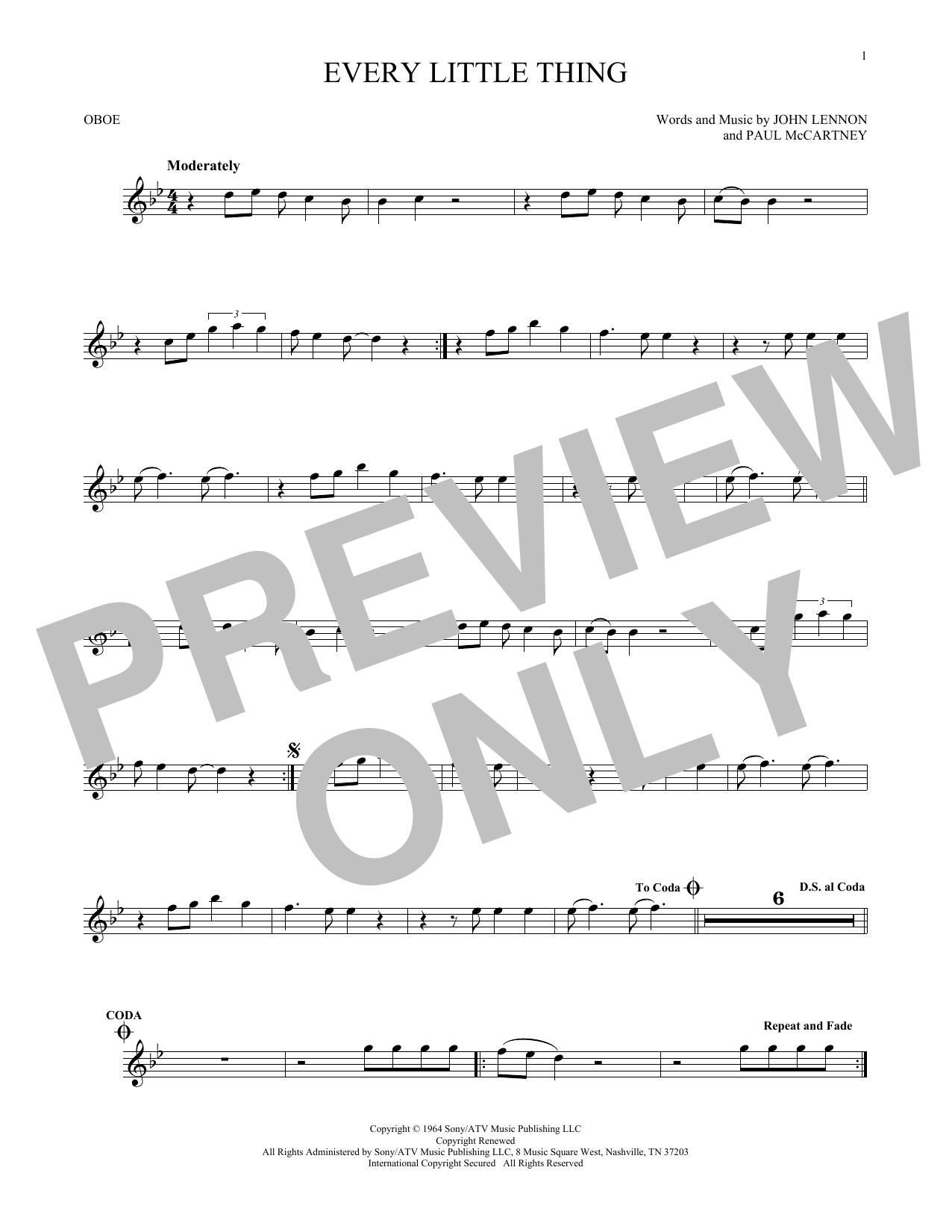 Every Little Thing (Oboe Solo)