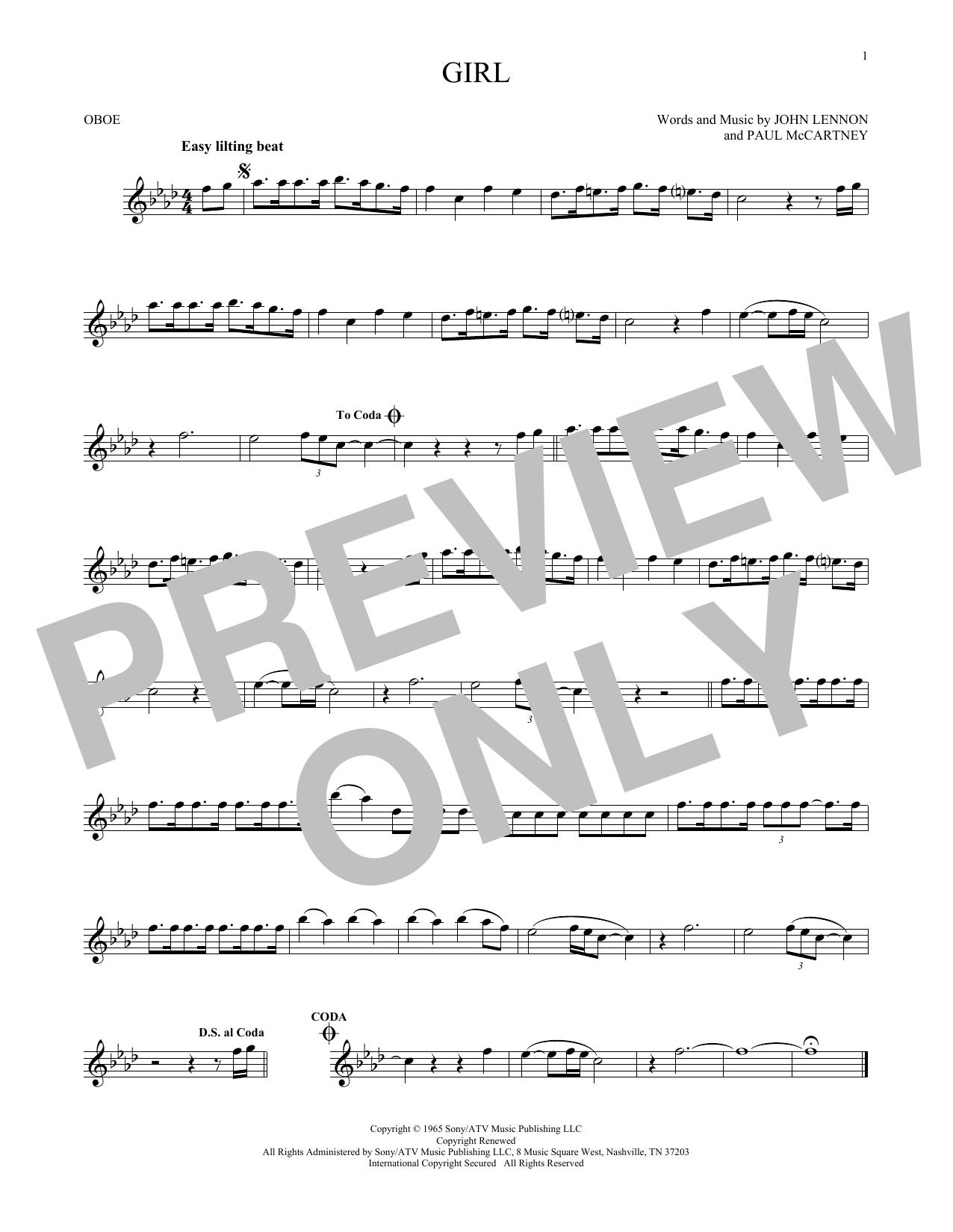 Girl (Oboe Solo)