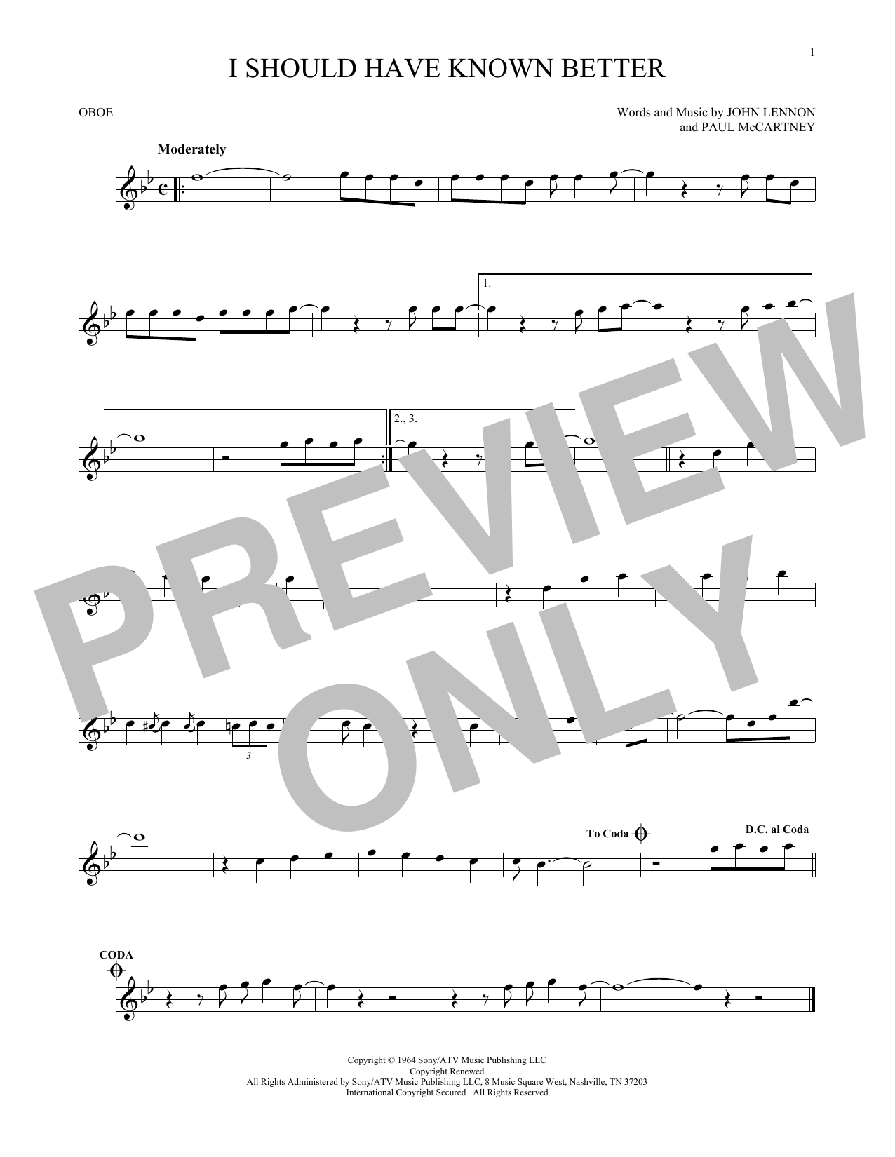 I Should Have Known Better (Oboe Solo)