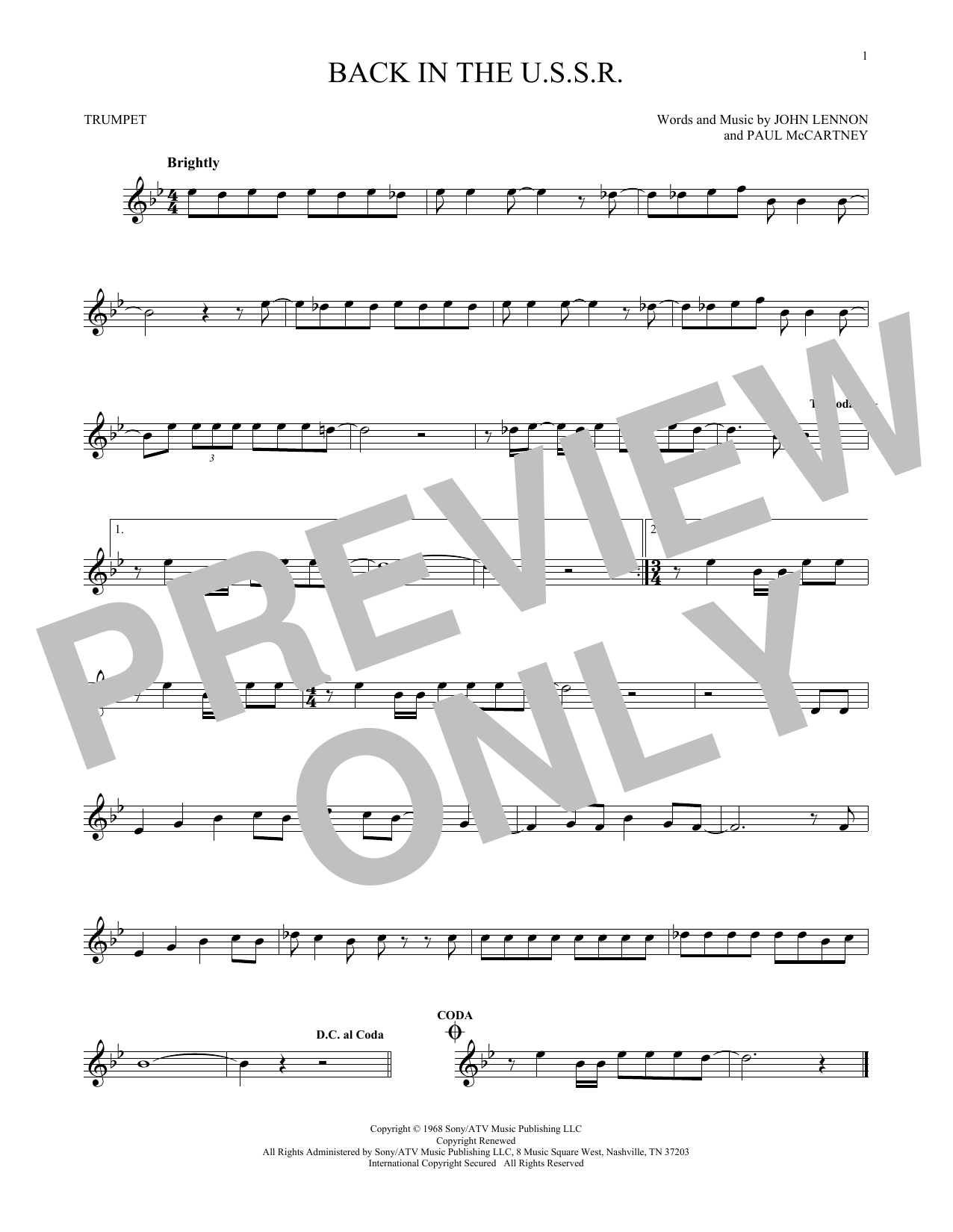Back In The U.S.S.R. (Trumpet Solo)