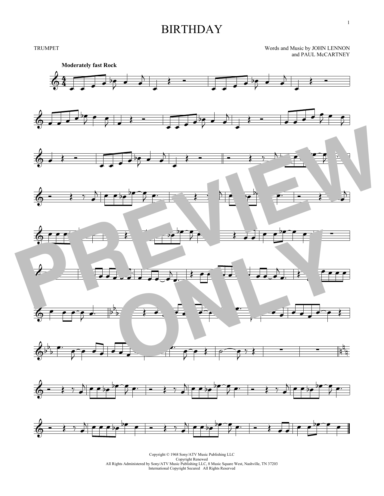 Birthday (Trumpet Solo)