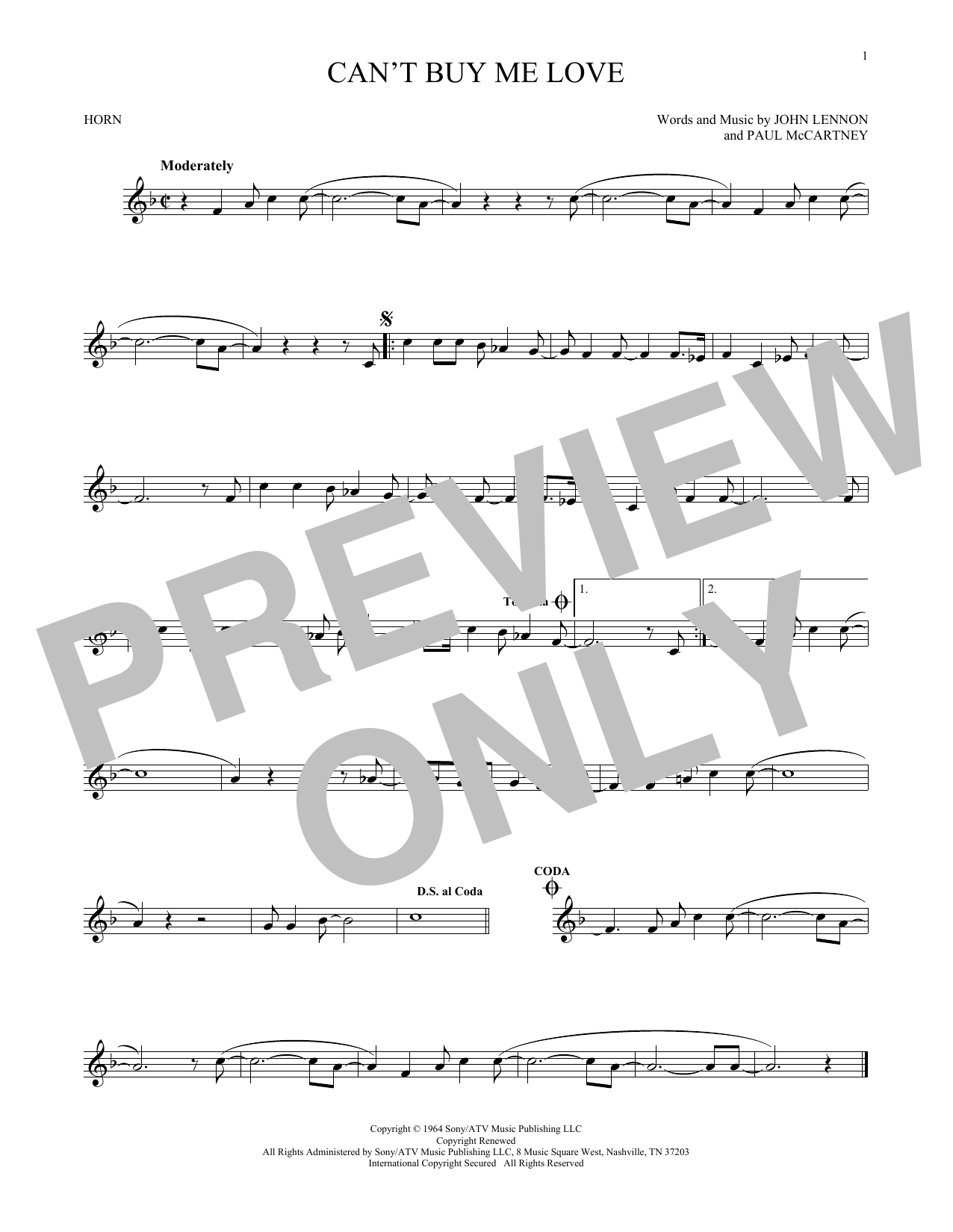 Can't Buy Me Love (French Horn Solo)