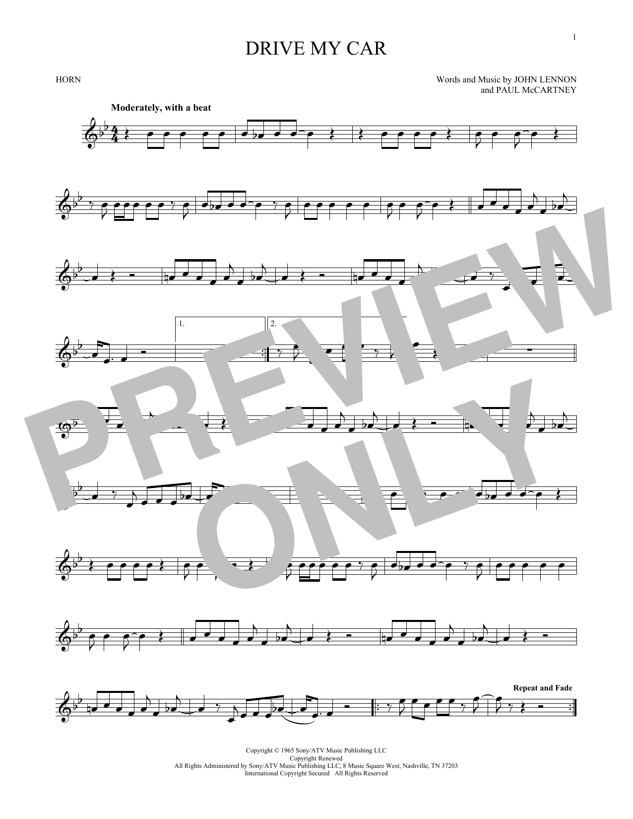 Drive My Car (French Horn Solo)