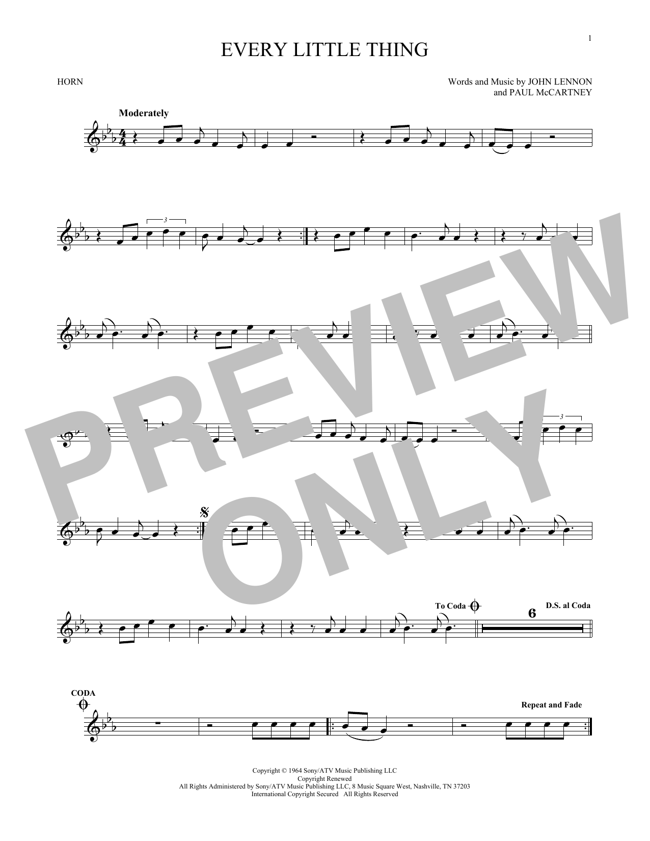 Every Little Thing (French Horn Solo)