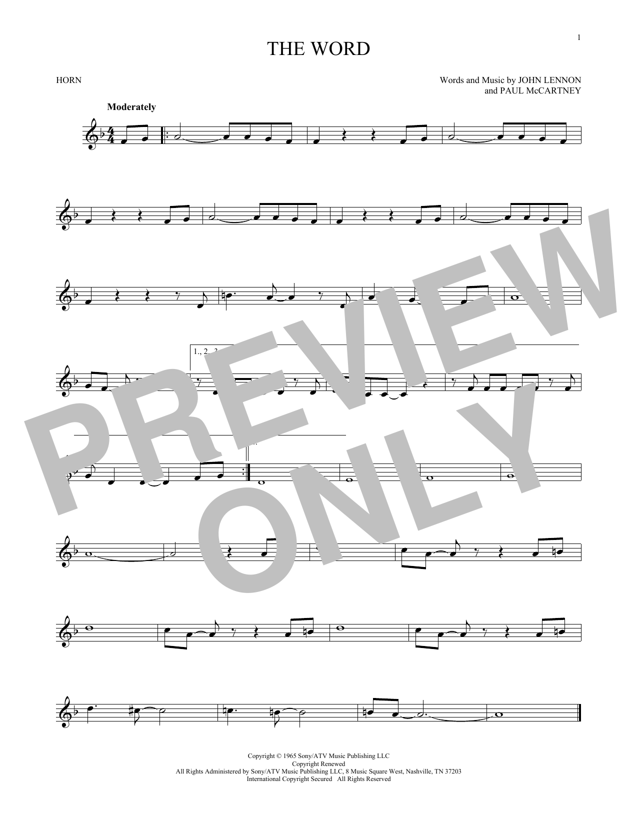 The Word (French Horn Solo)