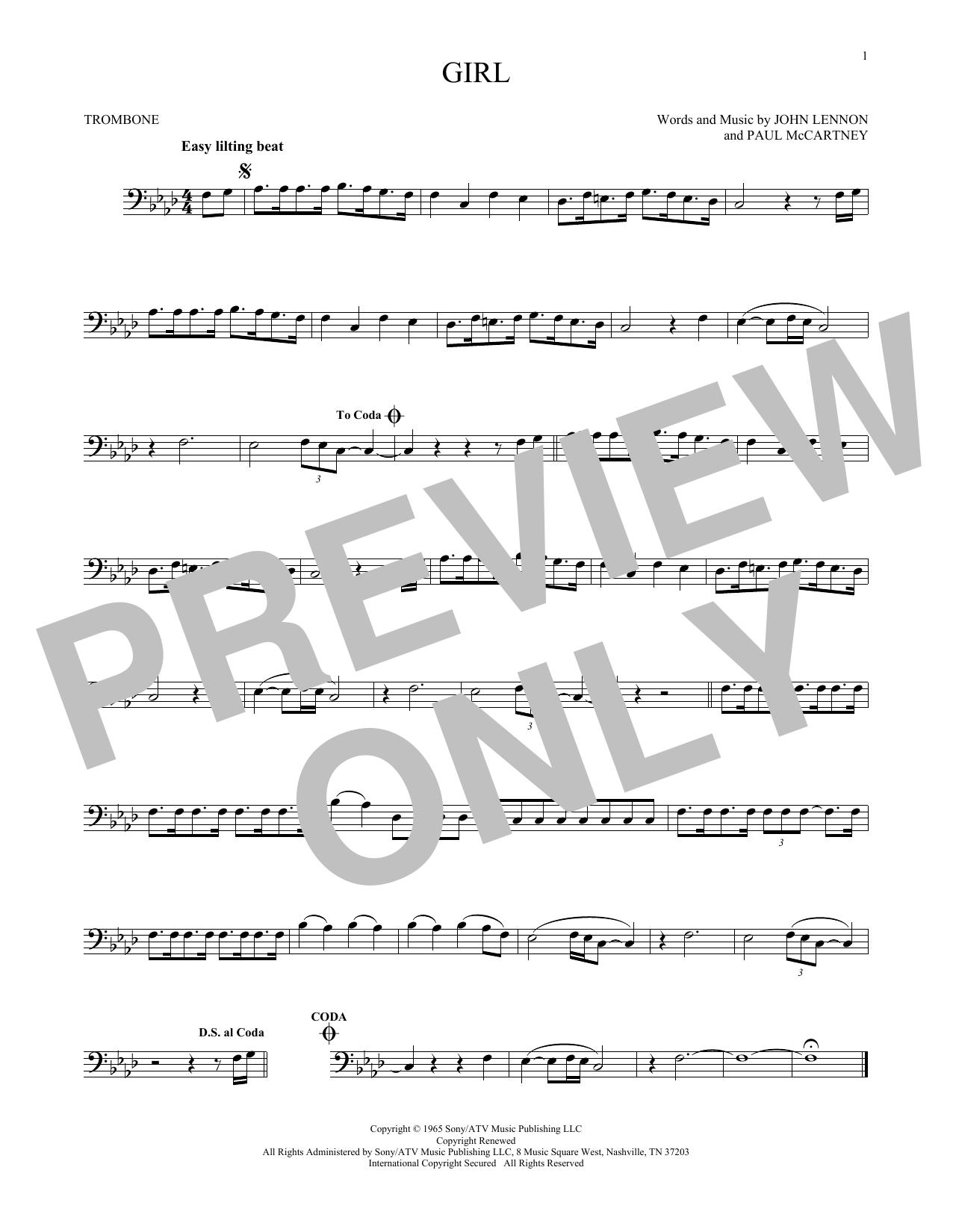 Girl (Trombone Solo)
