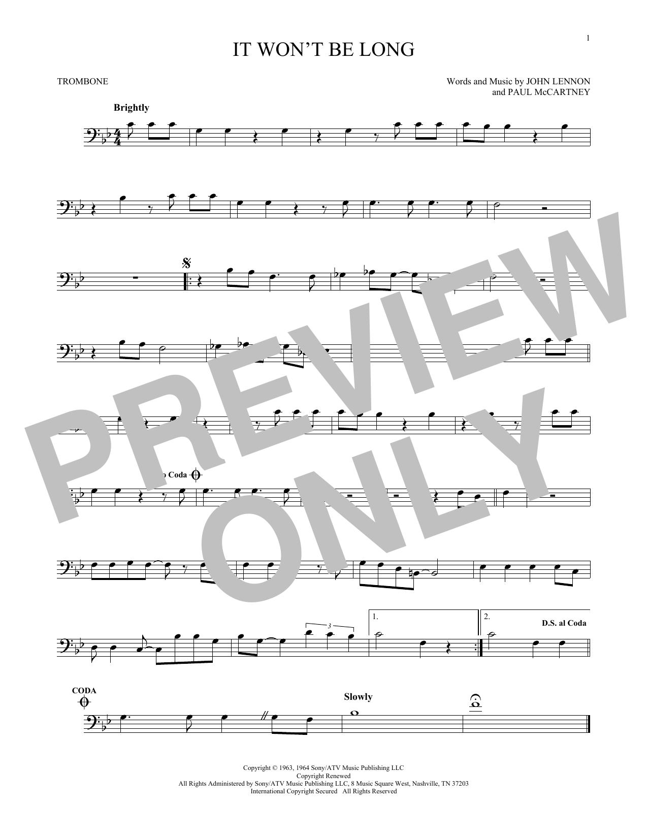 It Won't Be Long (Trombone Solo)