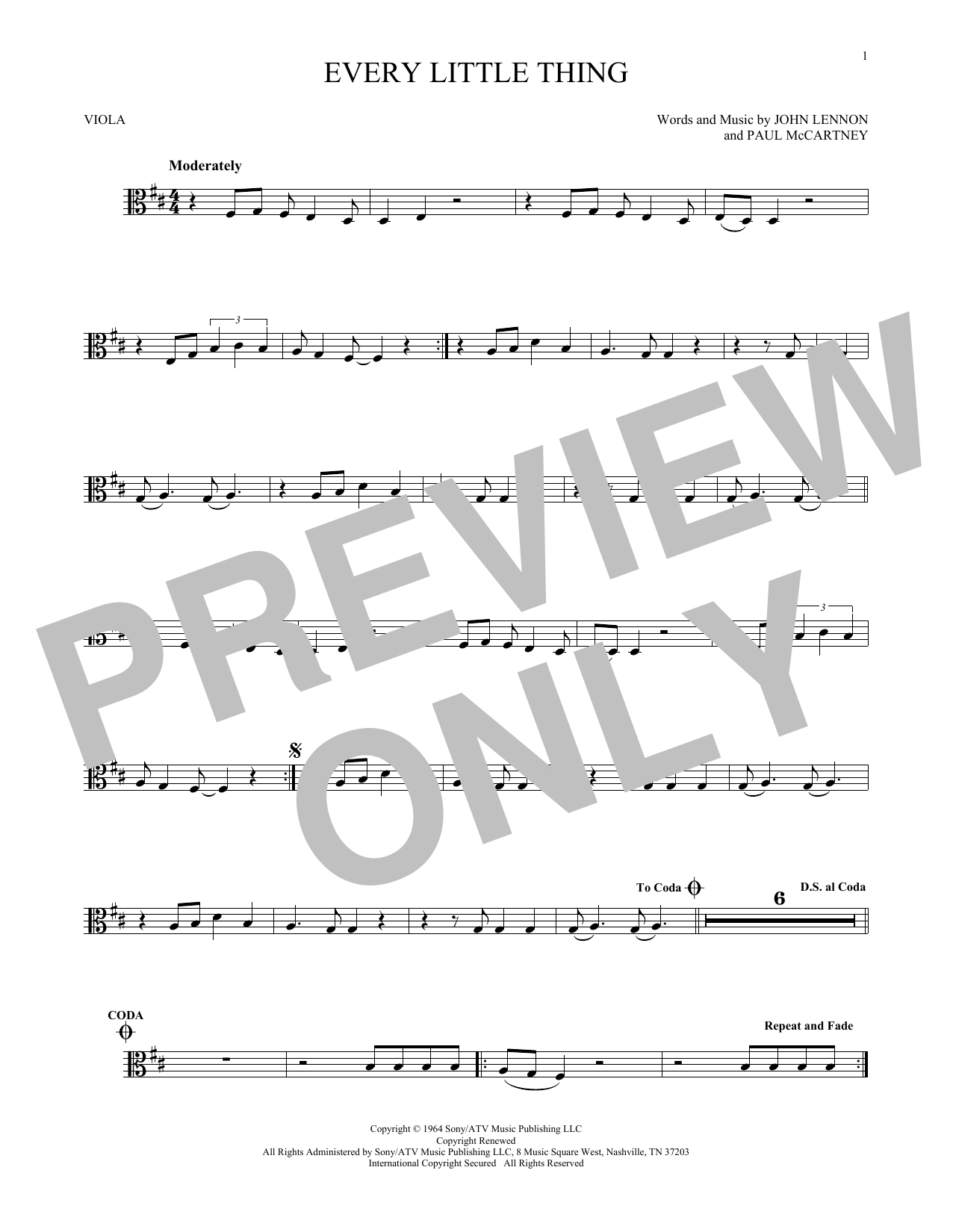 Every Little Thing (Viola Solo)