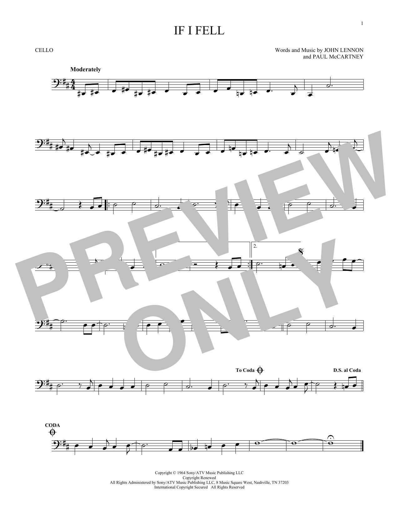 If I Fell Sheet Music