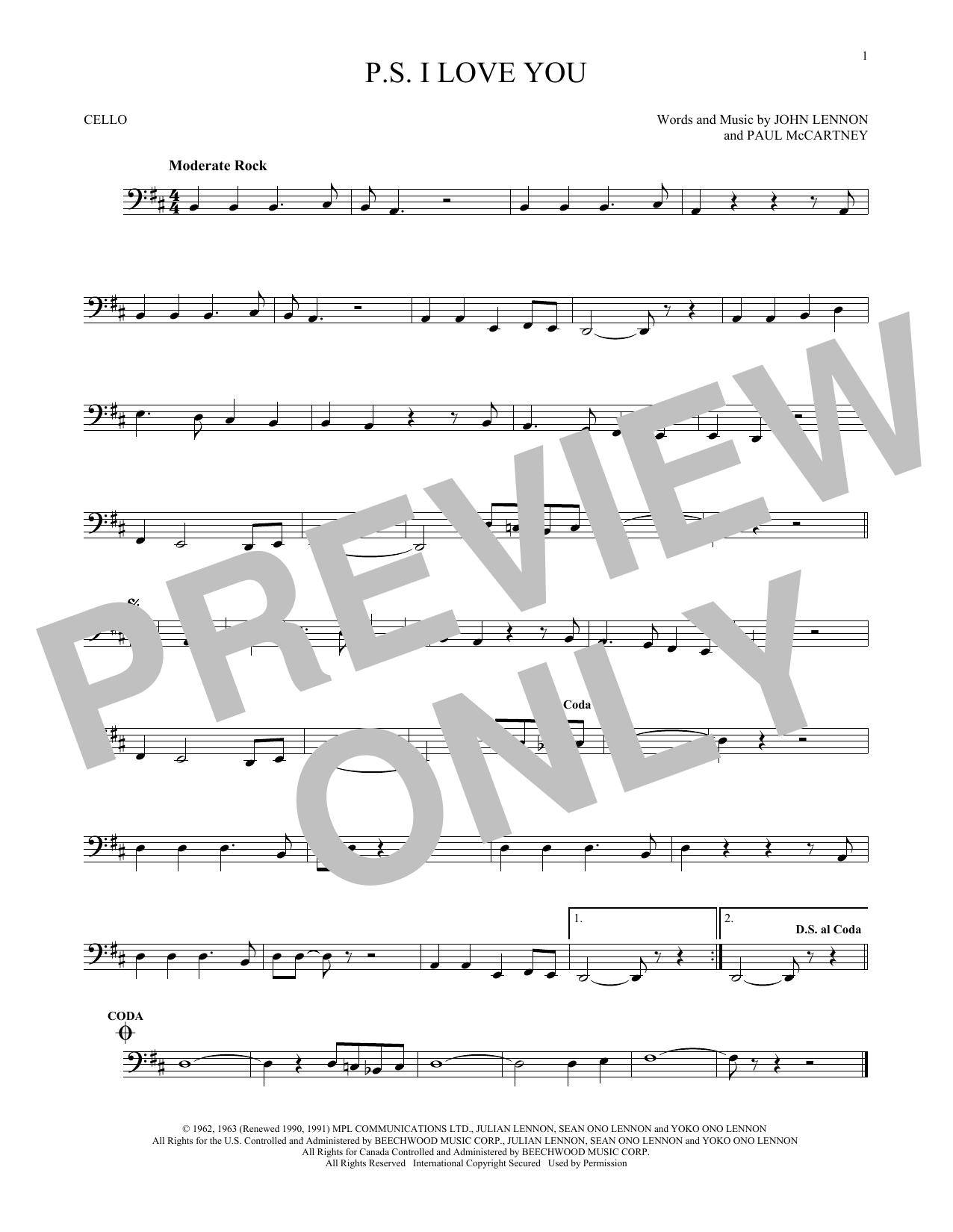 P.S. I Love You Sheet Music