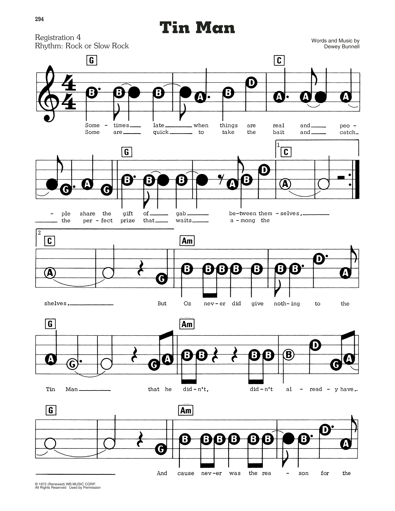 Tin Man (E-Z Play Today)