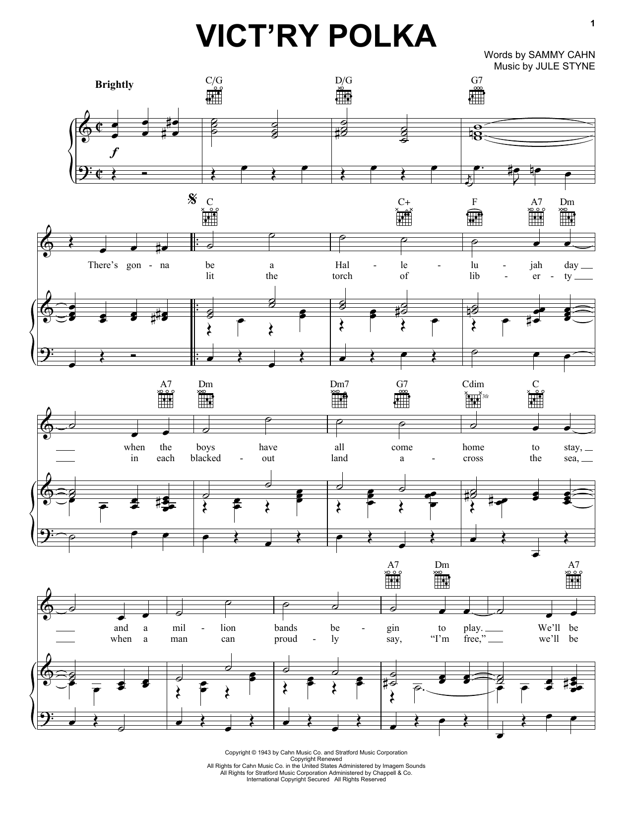 Vict'ry Polka (Piano, Vocal & Guitar (Right-Hand Melody))